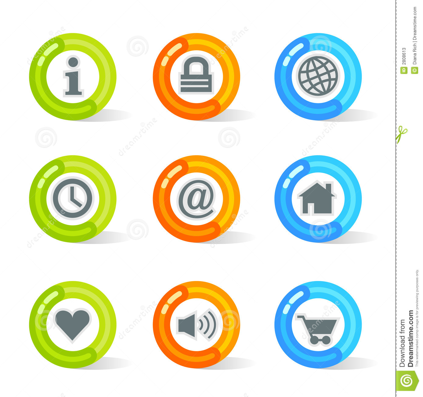 Iconos del Web del gel (vector)