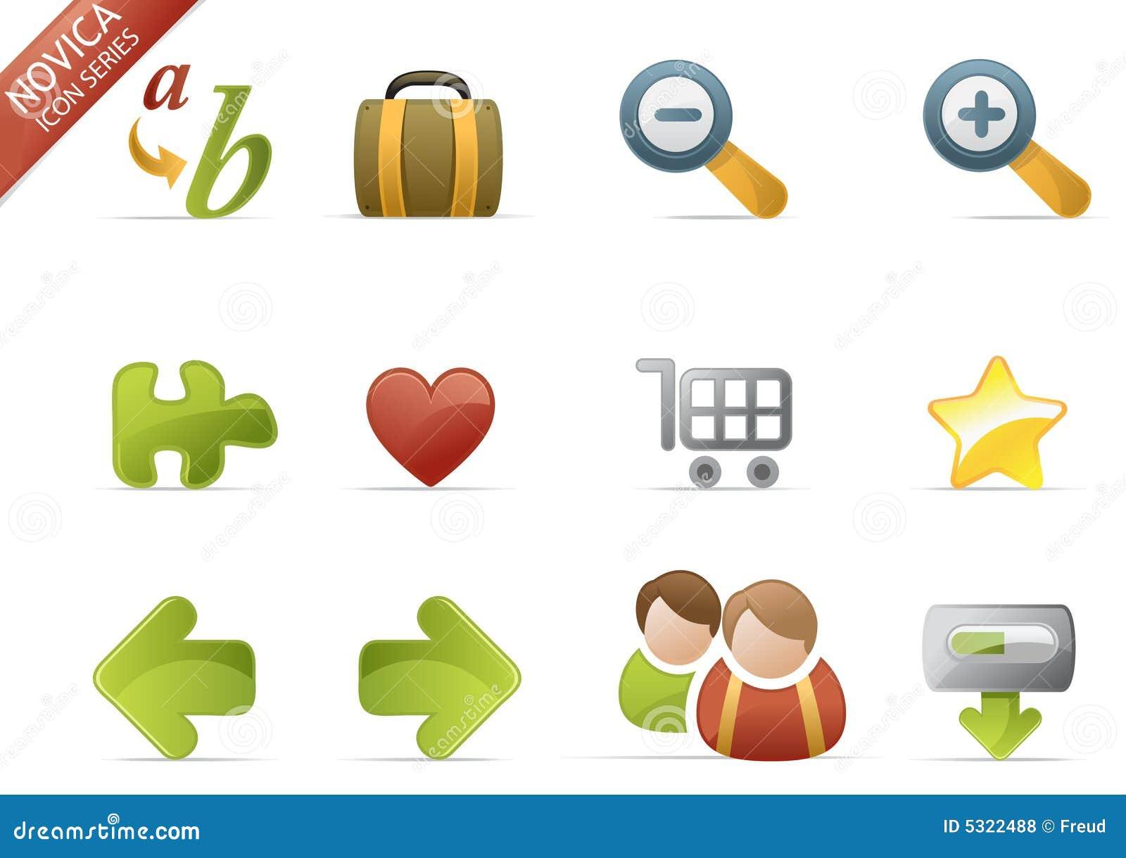 Iconos del Web - serie #3 de Novica