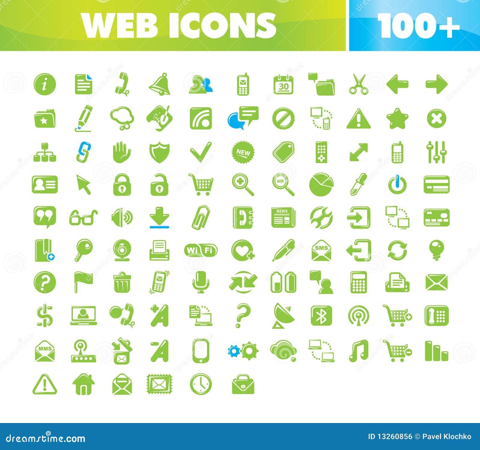 Iconos del Web y de la comunicación fijados.