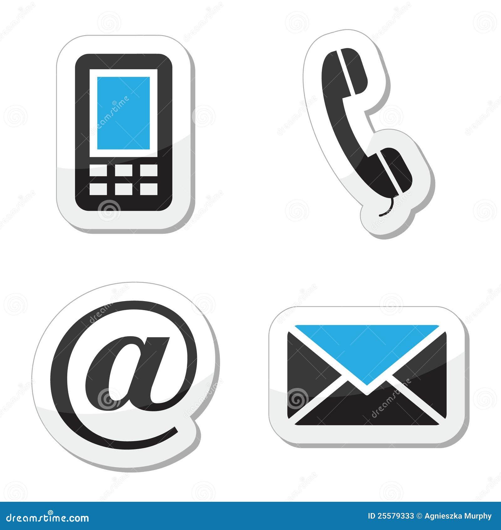 Iconos del Web y del Internet del contacto fijados