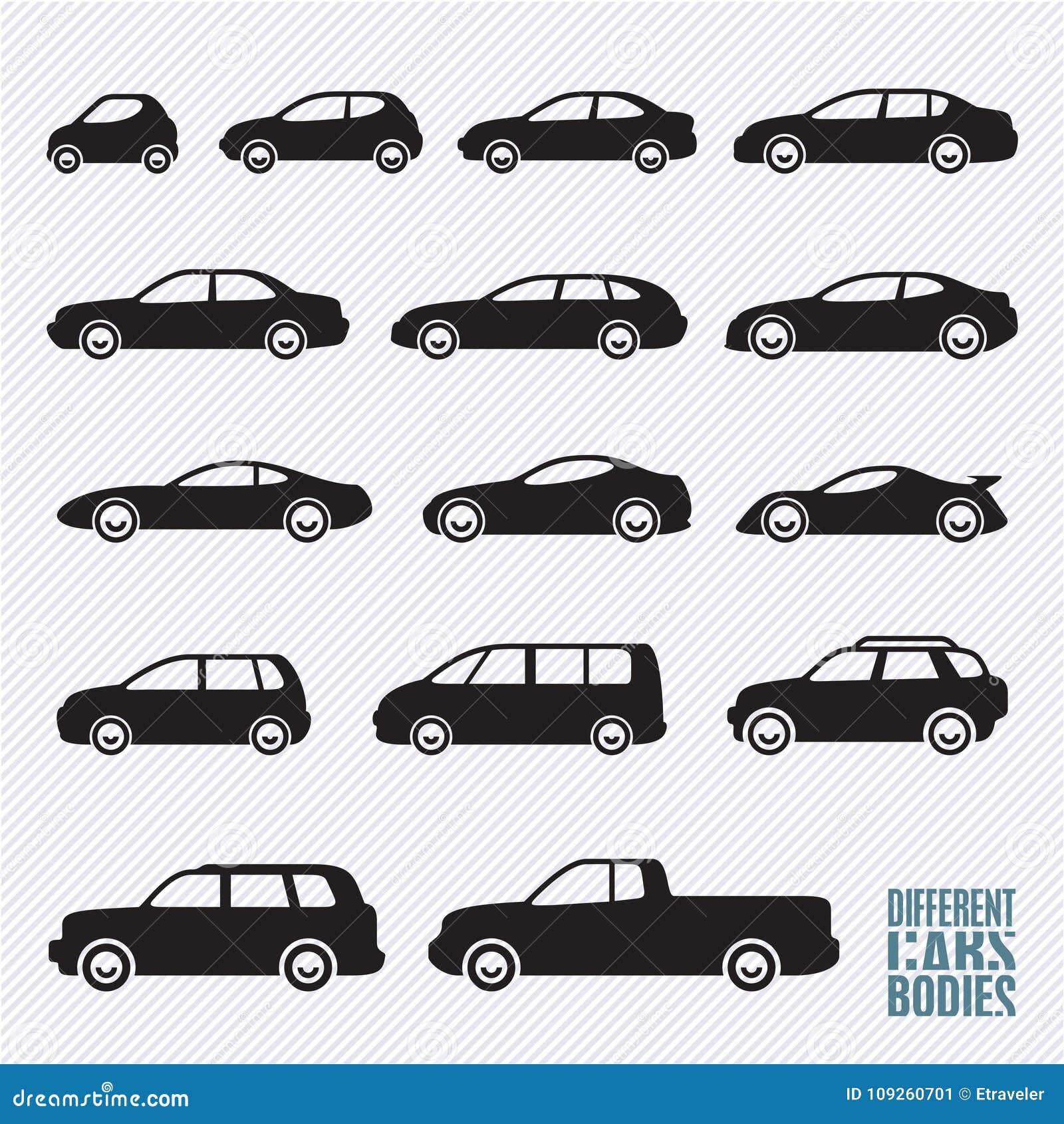 Iconos fijados, tipos de los coches del coche