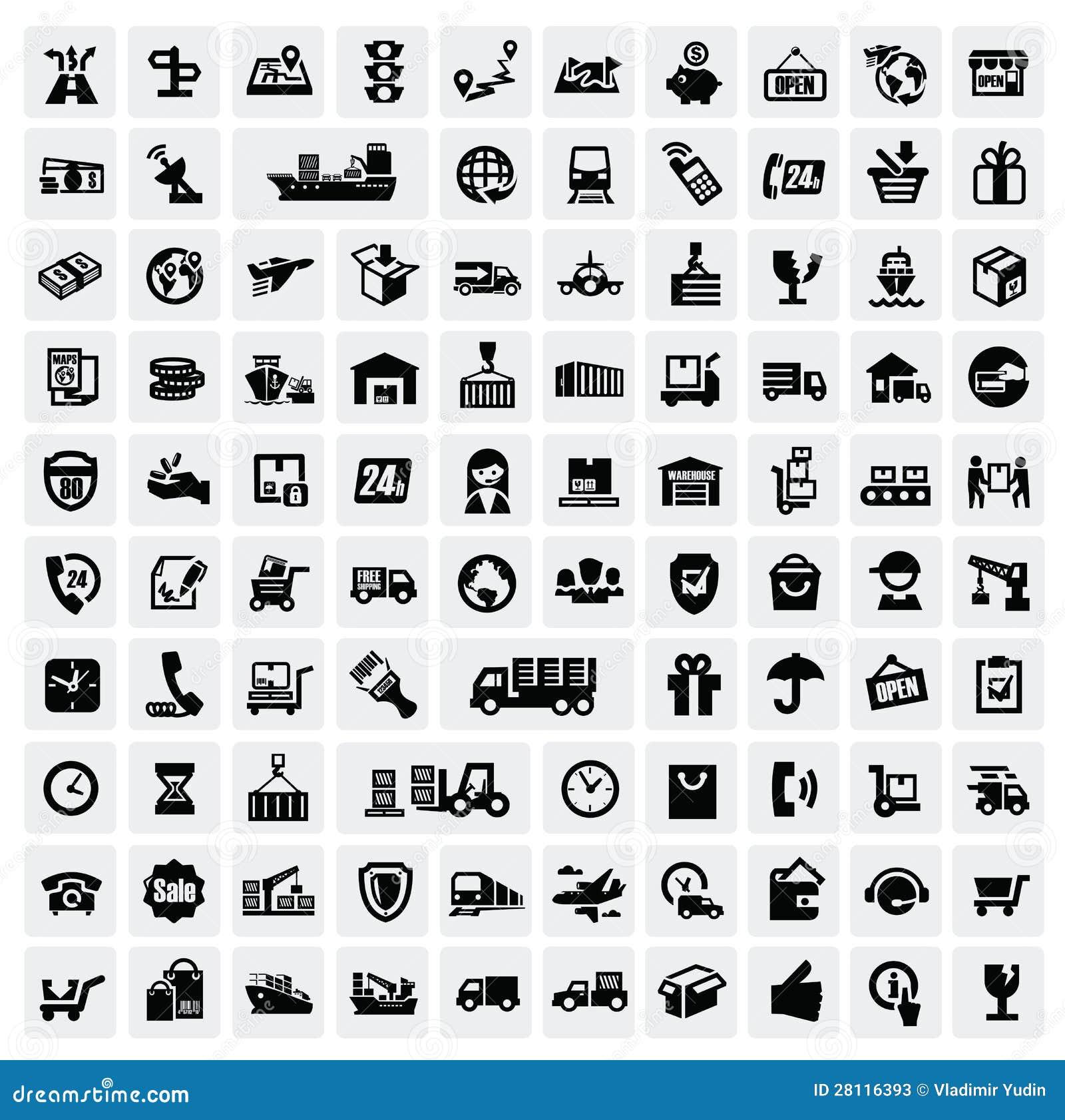 Iconos logísticos y del envío