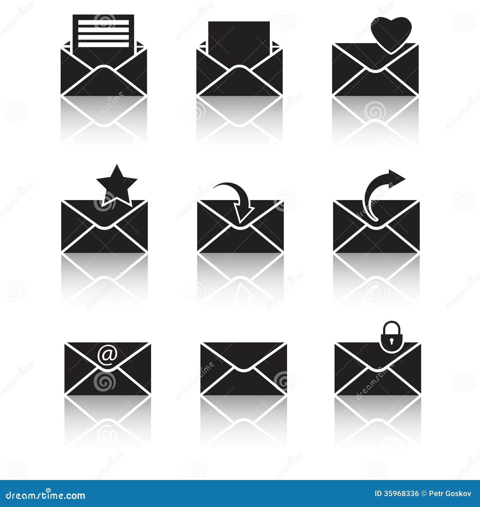 Iconos negros del web del vector fijados en gris