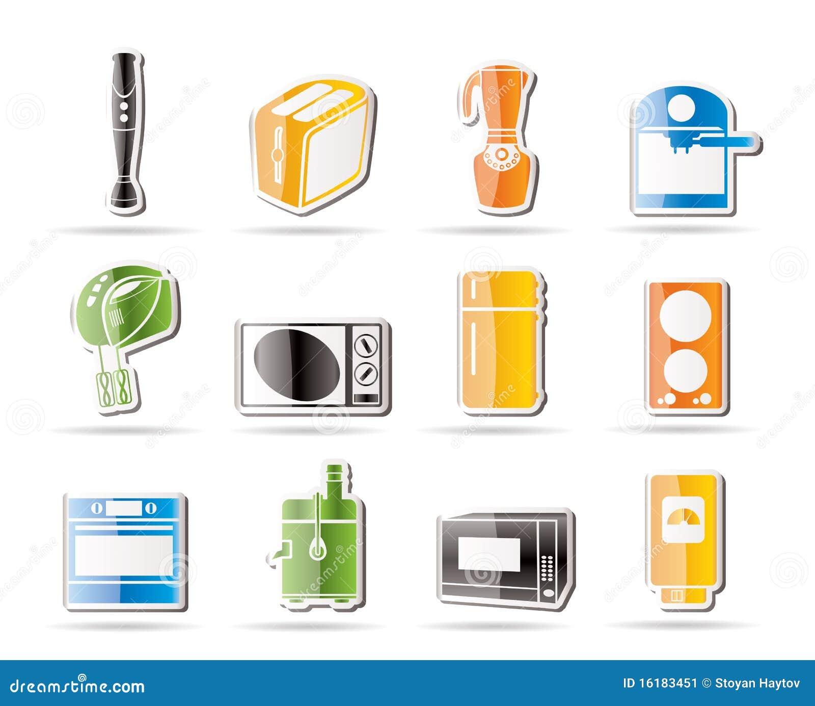 Iconos simples del cocina y caseros del equipo imagen de for Equipo manual de cocina