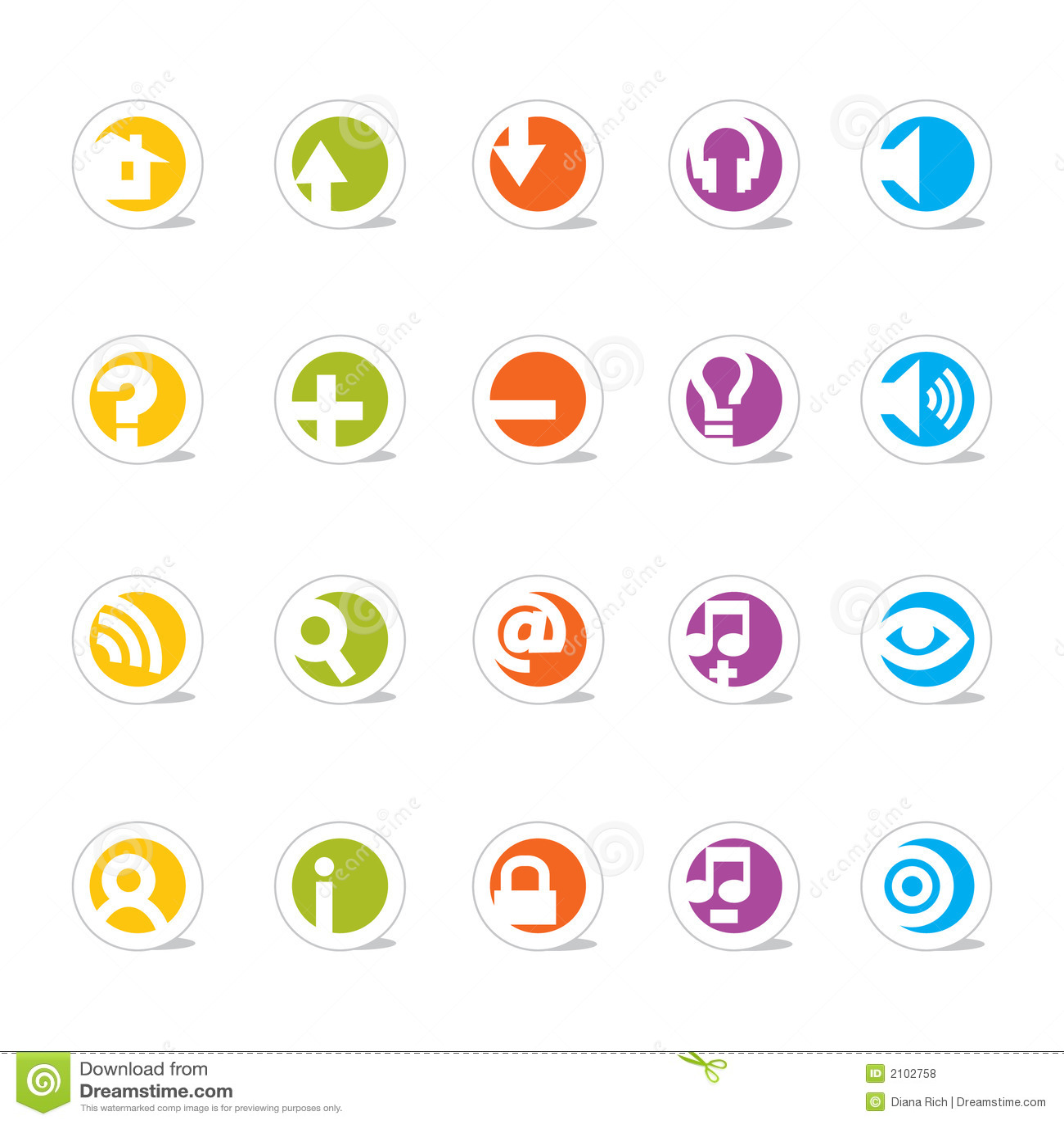 Iconos simples del Web (vector)