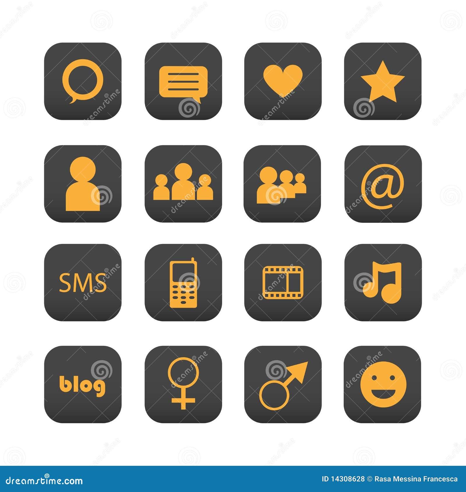 Iconos sociales de la red