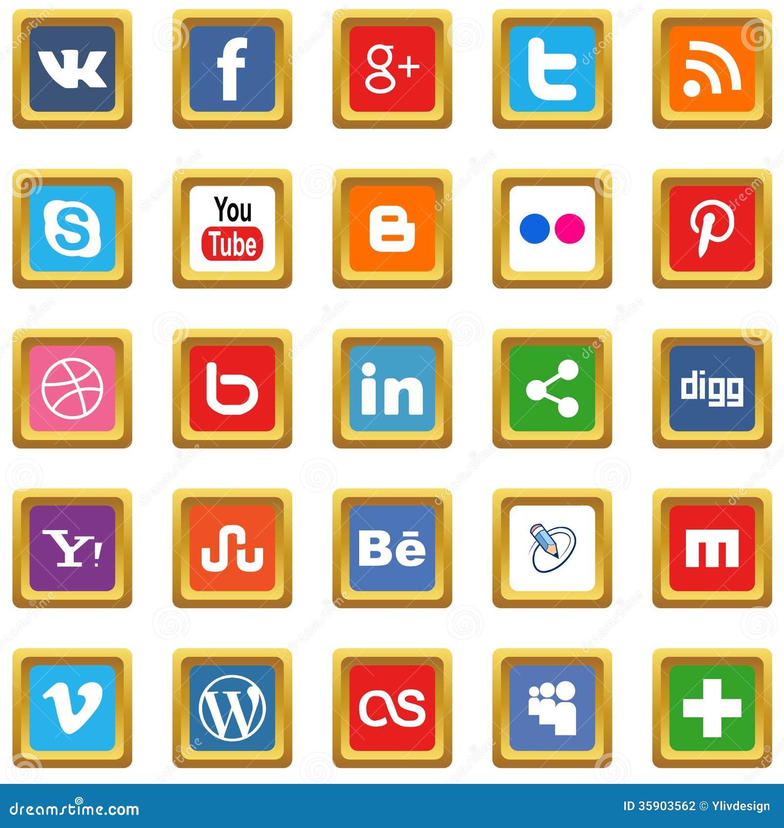 Iconos sociales del oro medios