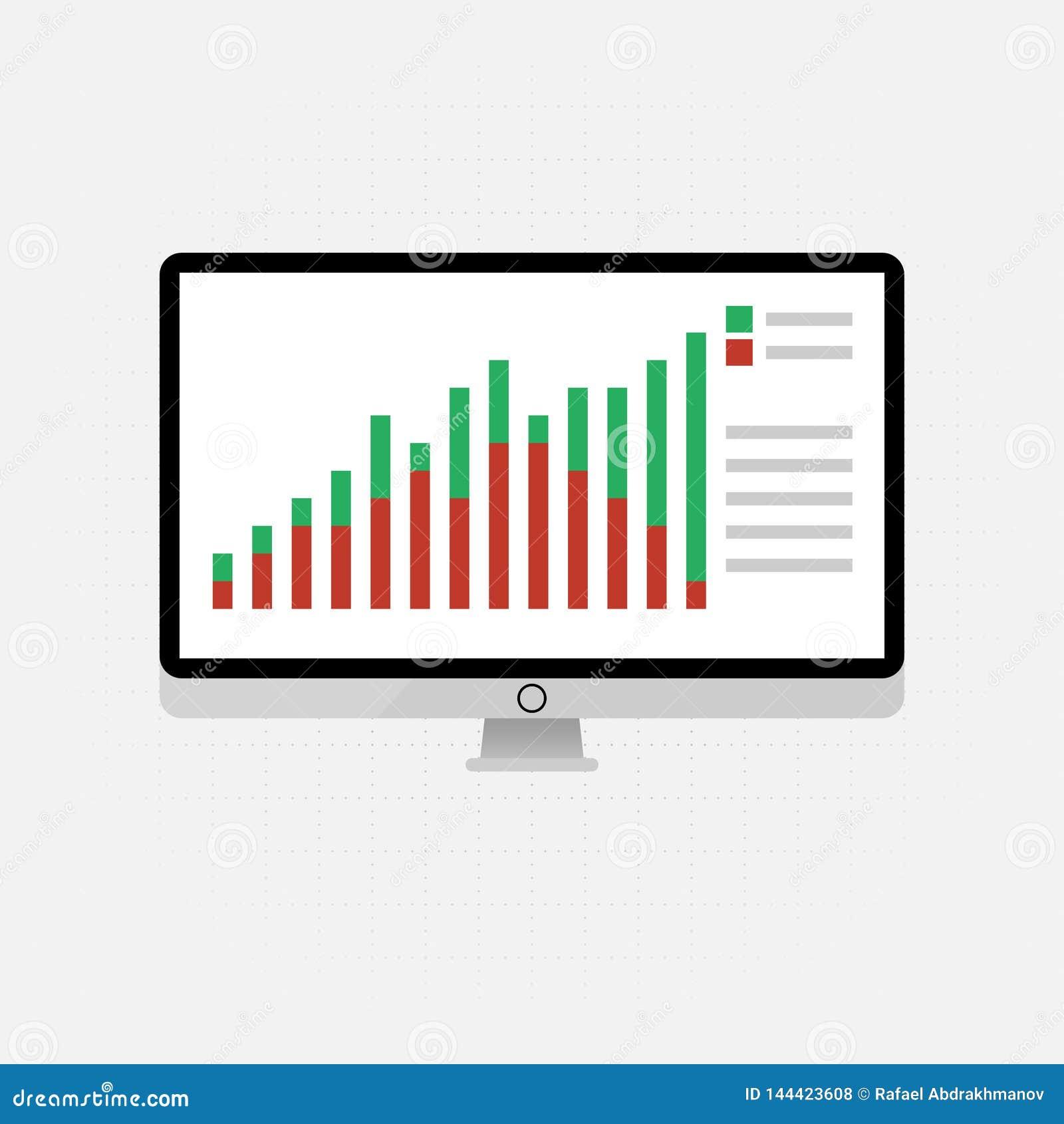 Iconos y muestras del vector para la gesti?n y el concepto de comercializaci?n de infographic del an?lisis de datos grande y del