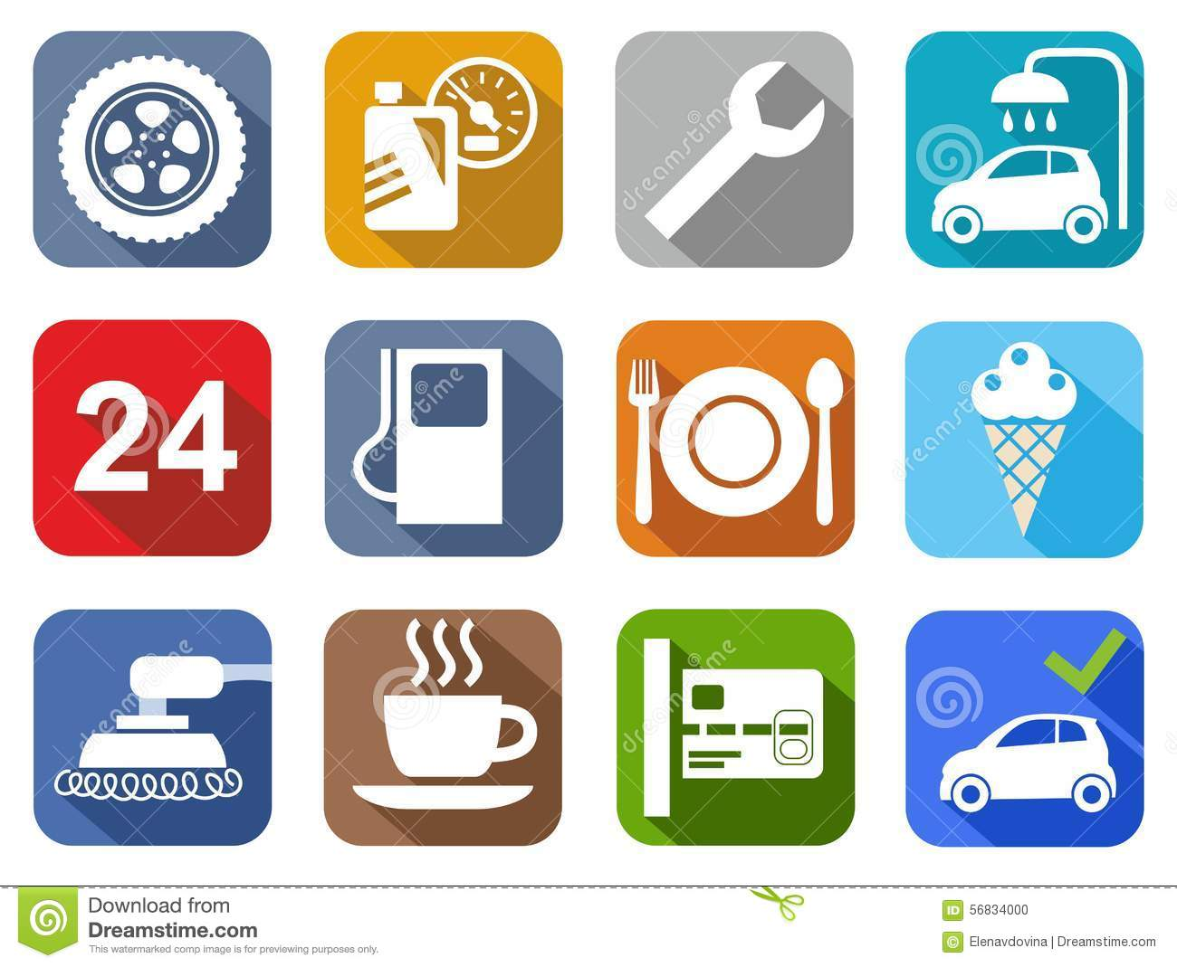 icons car service  car wash  polishing  tire  cafe  color Download Free Vector Graphics Clip Art Free Vector Art Downloads