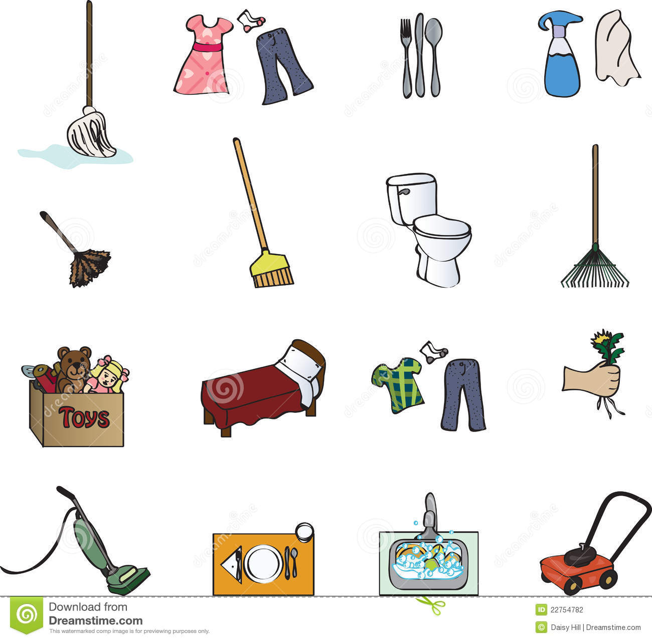 Icons For A Chore Chart Stock Photography - Image: 22754782