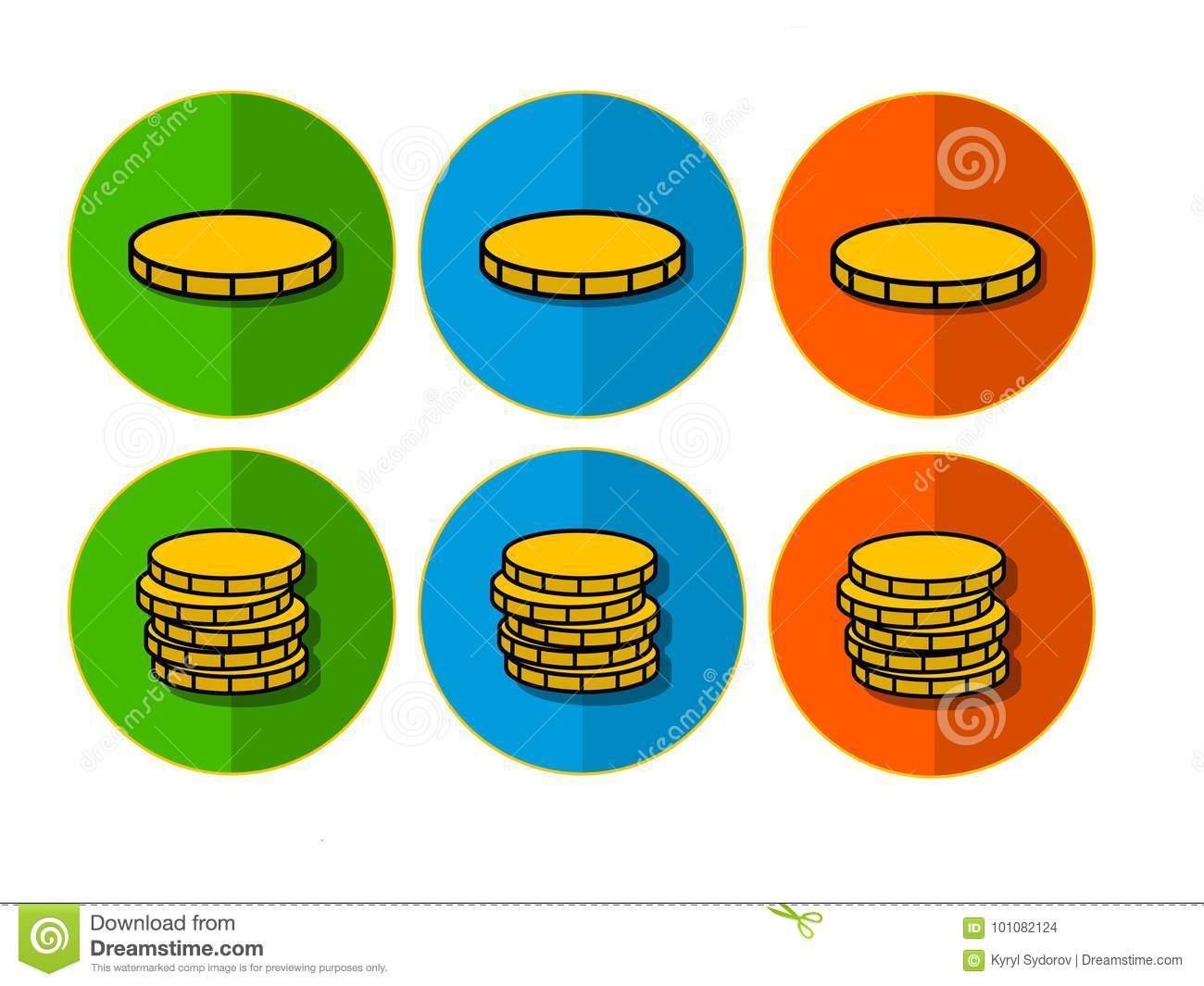 icons with coins stock photo illustration of coin stack 101082124