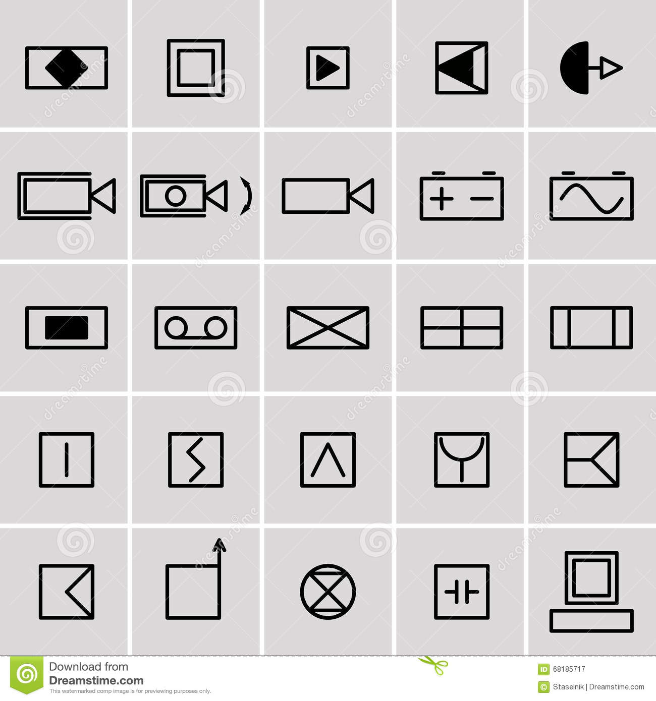 Icons electrical symbols stock vector. Illustration of group - 68185717