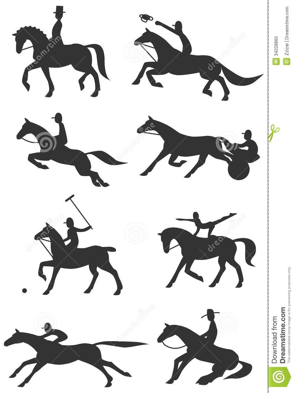 Icons Equestrian Sports Stock Photo Image 34228860