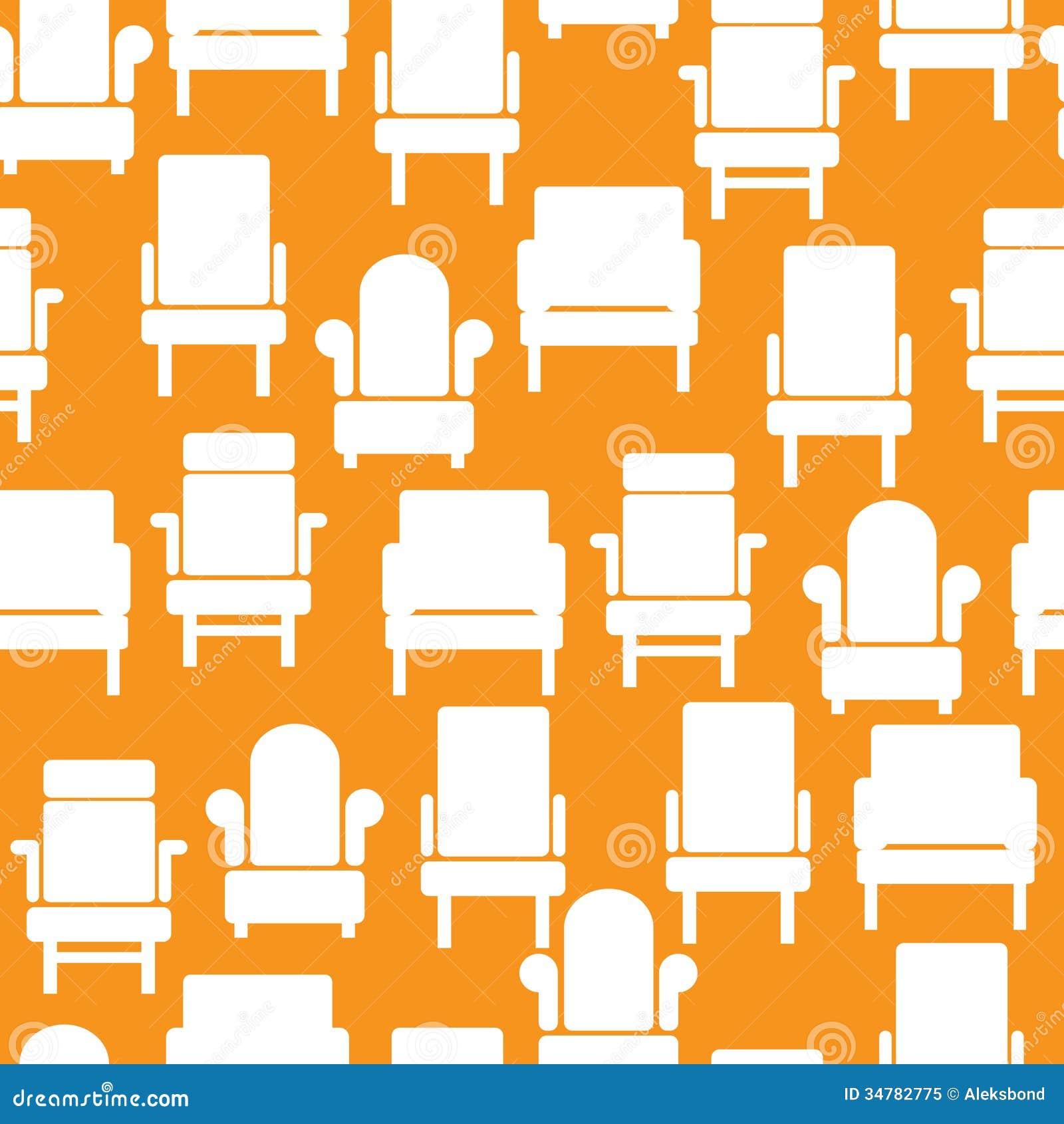 pattern furniture. Icons Of Furniture On Seamless Pattern I