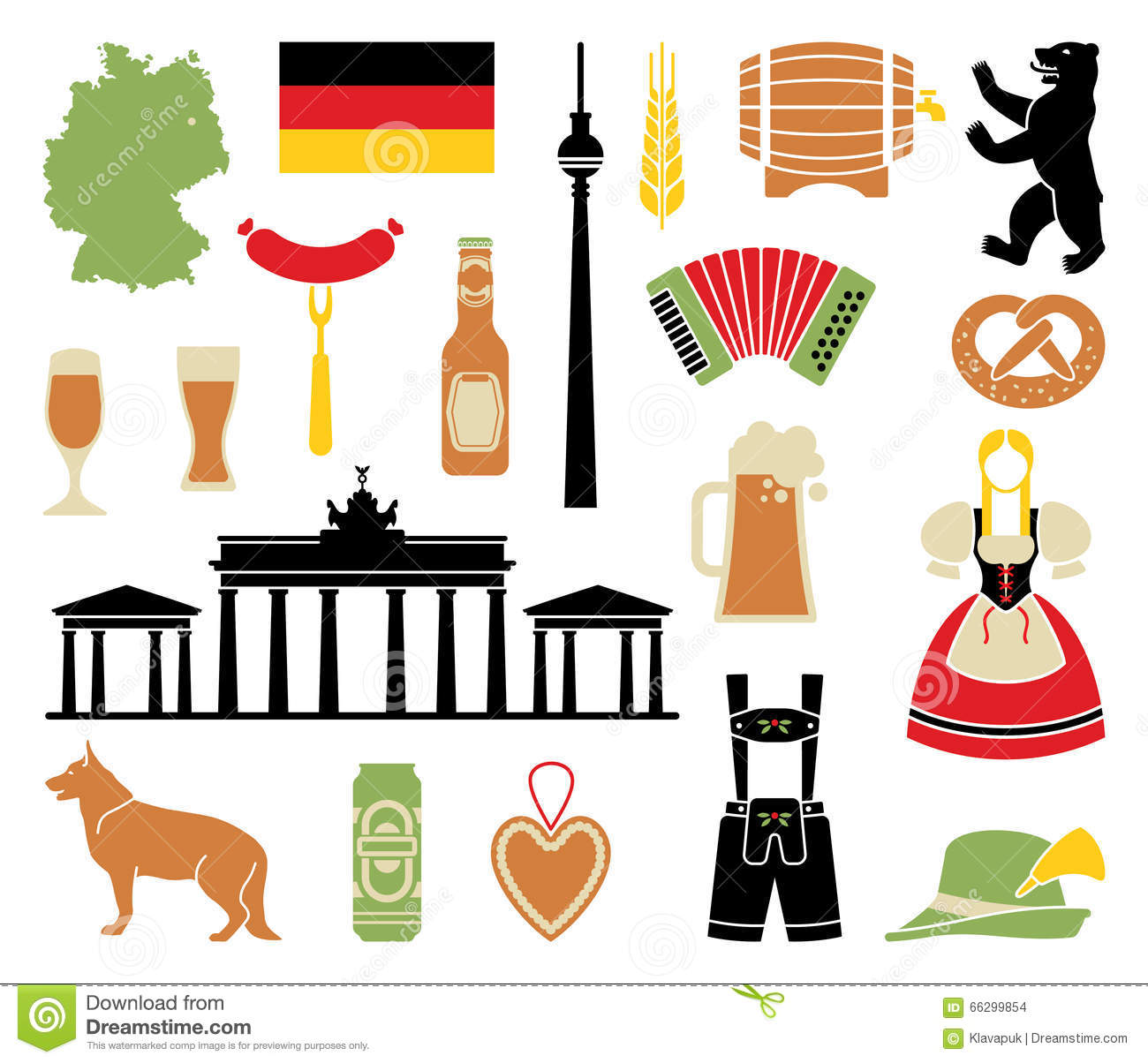 Icons Of Germany Stock Vector Illustration Of Flag Bottle 66299854