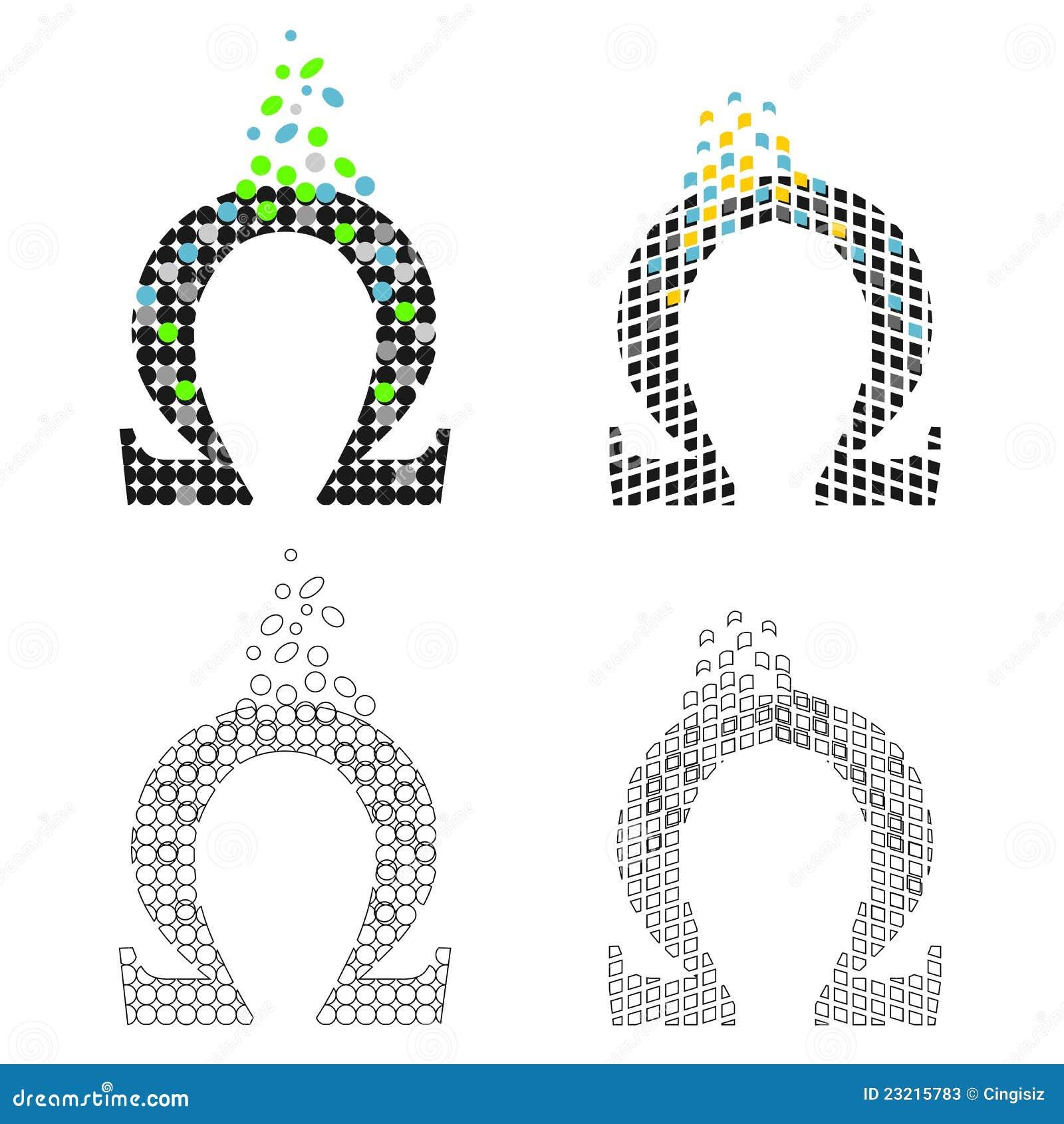 Icons greek letter omega set stock illustration illustration of royalty free stock photo biocorpaavc Gallery