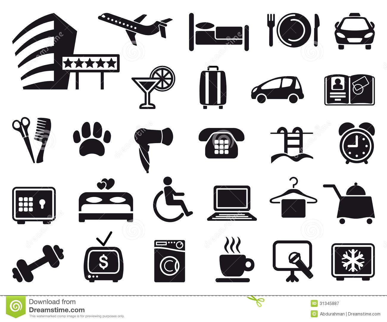Pool And Spa Service Icons