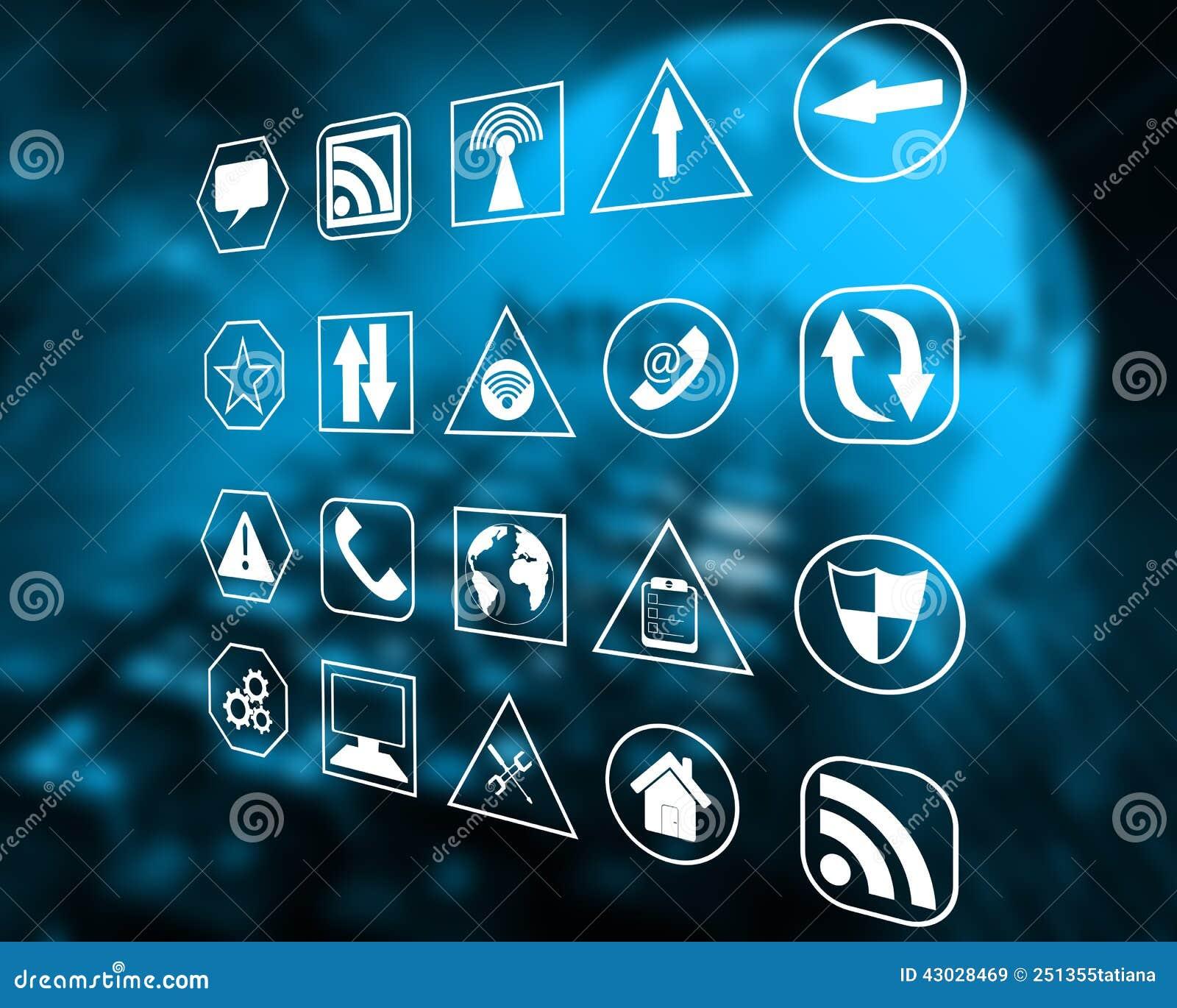 Icons Interface Stock Illustration Illustration Of Definition