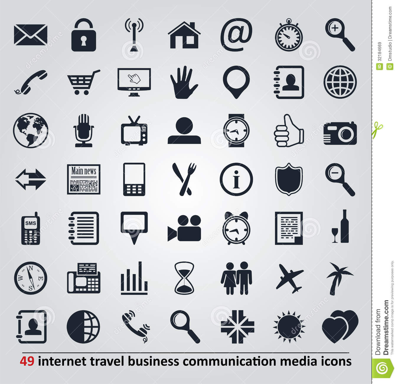 Vector icons for internet travel communication a stock image vector icons for internet travel communication a biocorpaavc