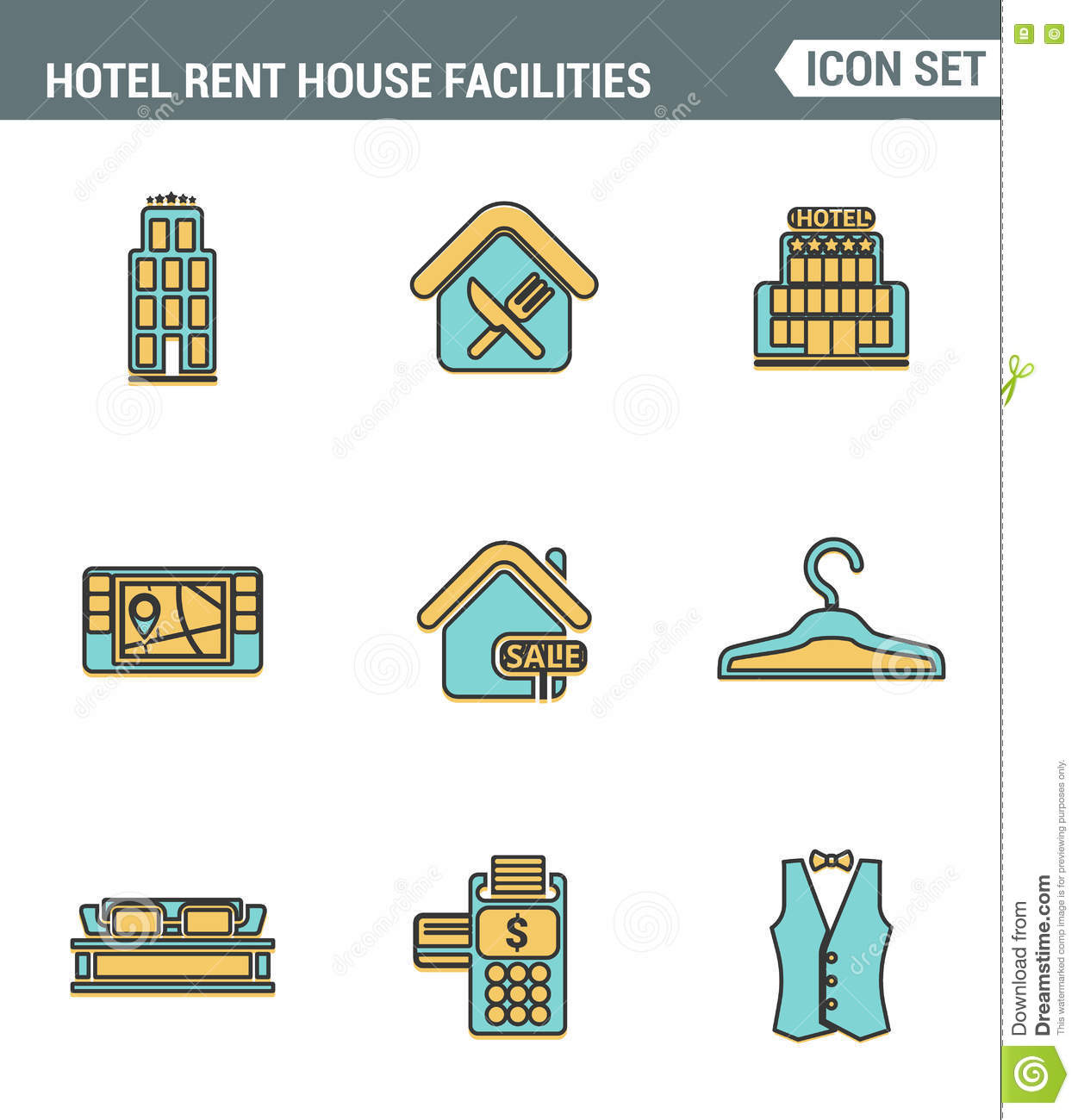 Hotel Staff Icons Vector Illustration 40016142