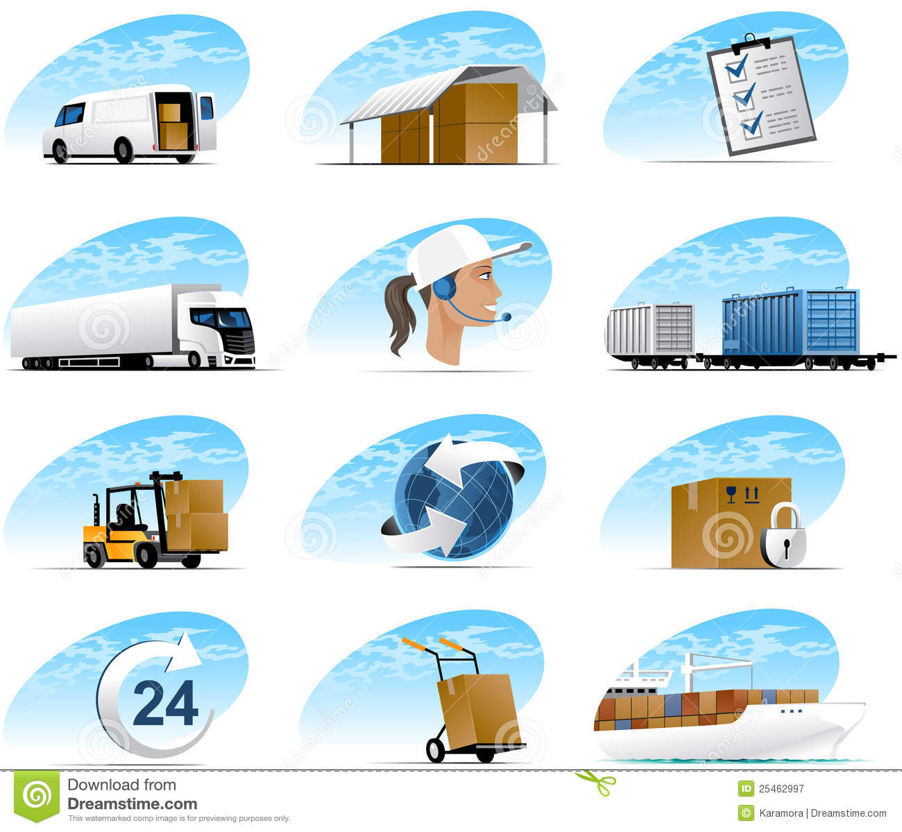 Icons Logistic Stock Vector Image Of Check Travel Arrow