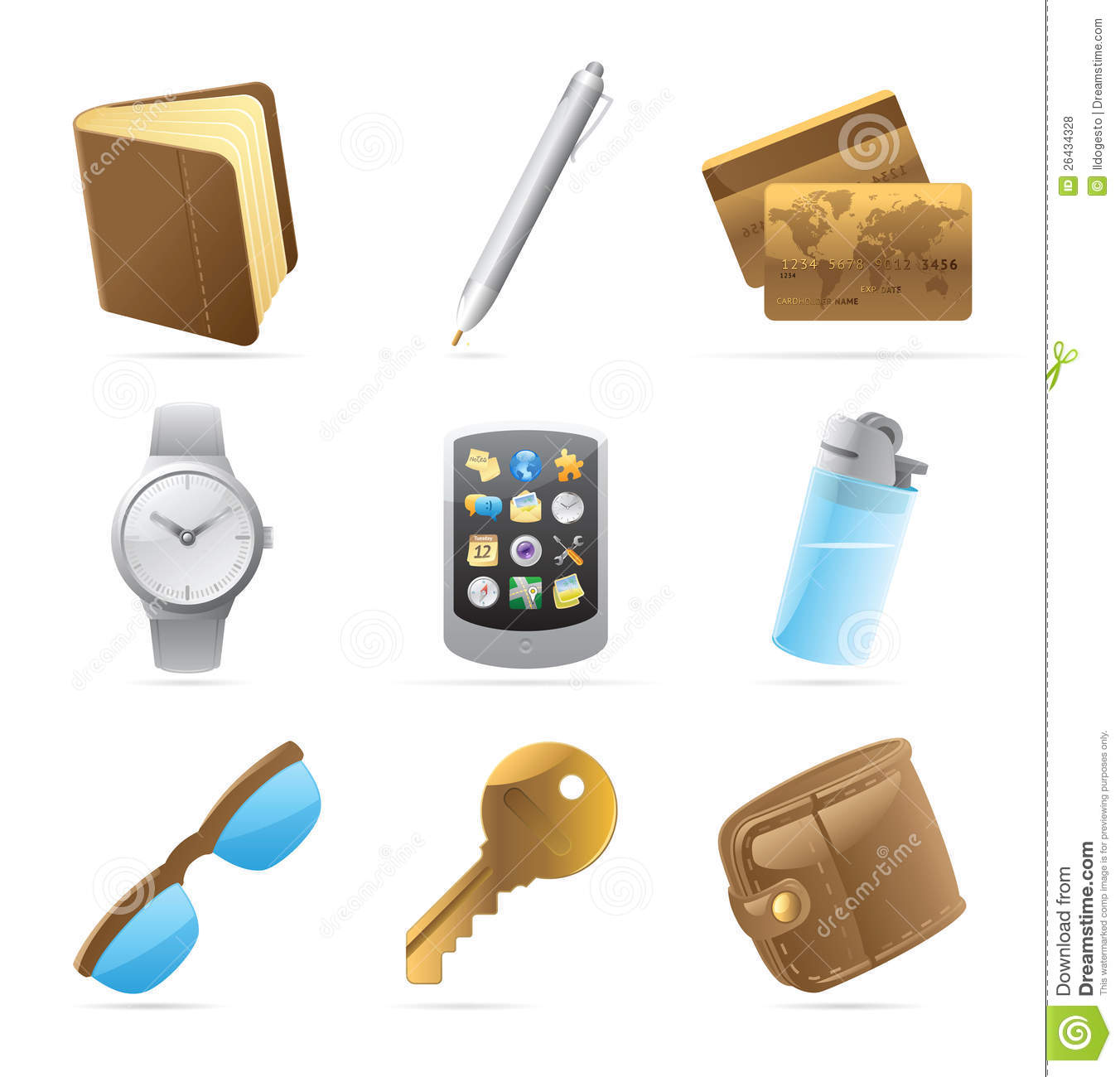 icons for personal belongings stock vector image 26434328 pocket watch clip art borders pocket watch clip art borders