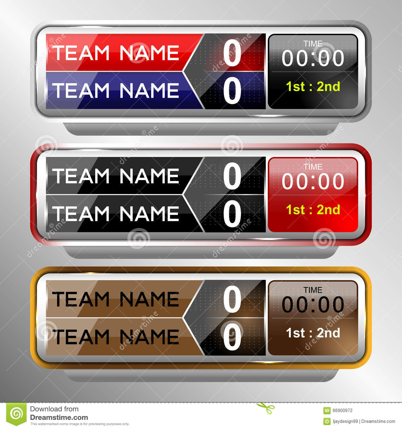 Icons Scoreboard Template Stock Vector - Image: 66900972