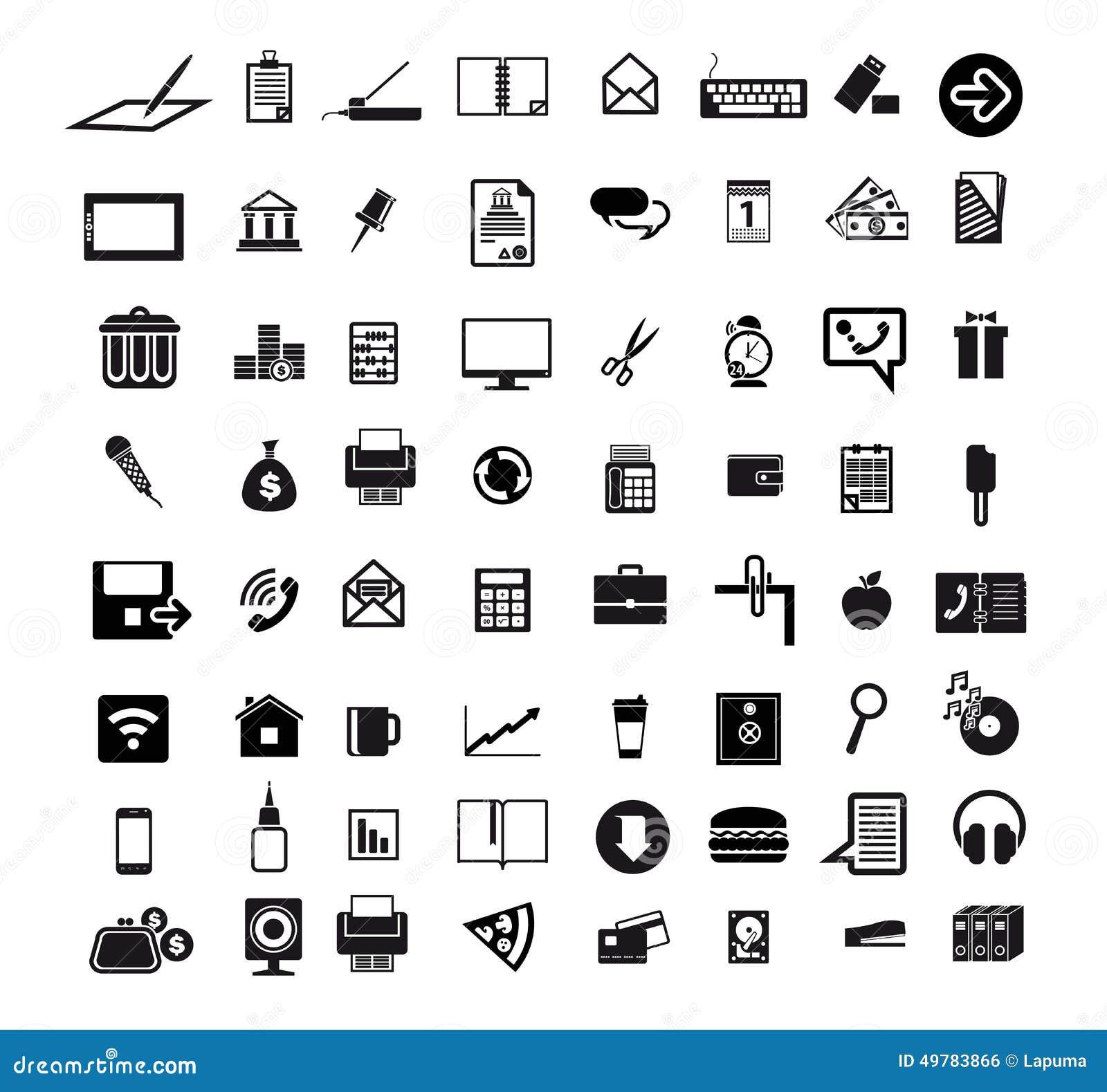 icons set stock vector