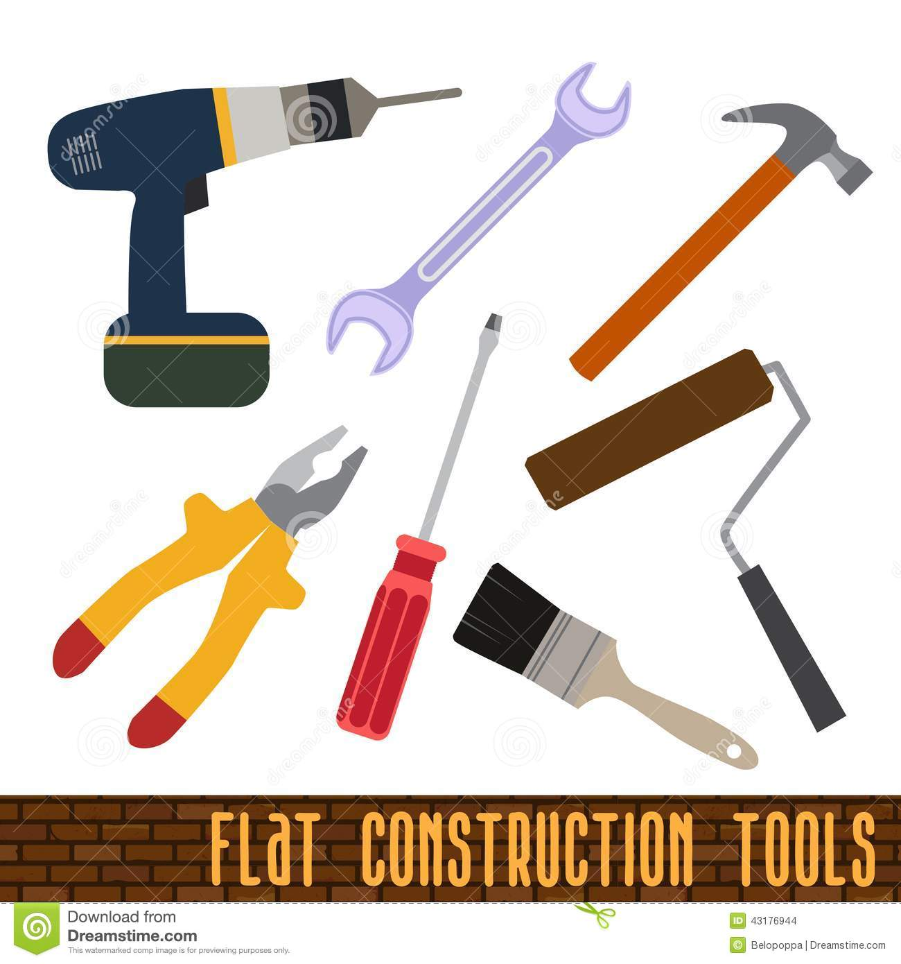 Icons Set Of Craft Tools Stock Vector Illustration Of Equipment