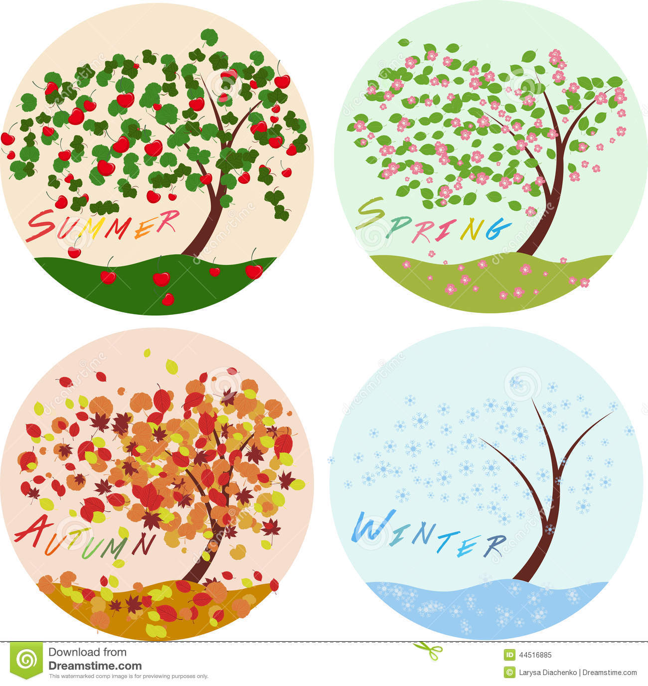 Icons set stock vector image of summer gardening design 44516885 - Autumn plowing time all set for winter ...