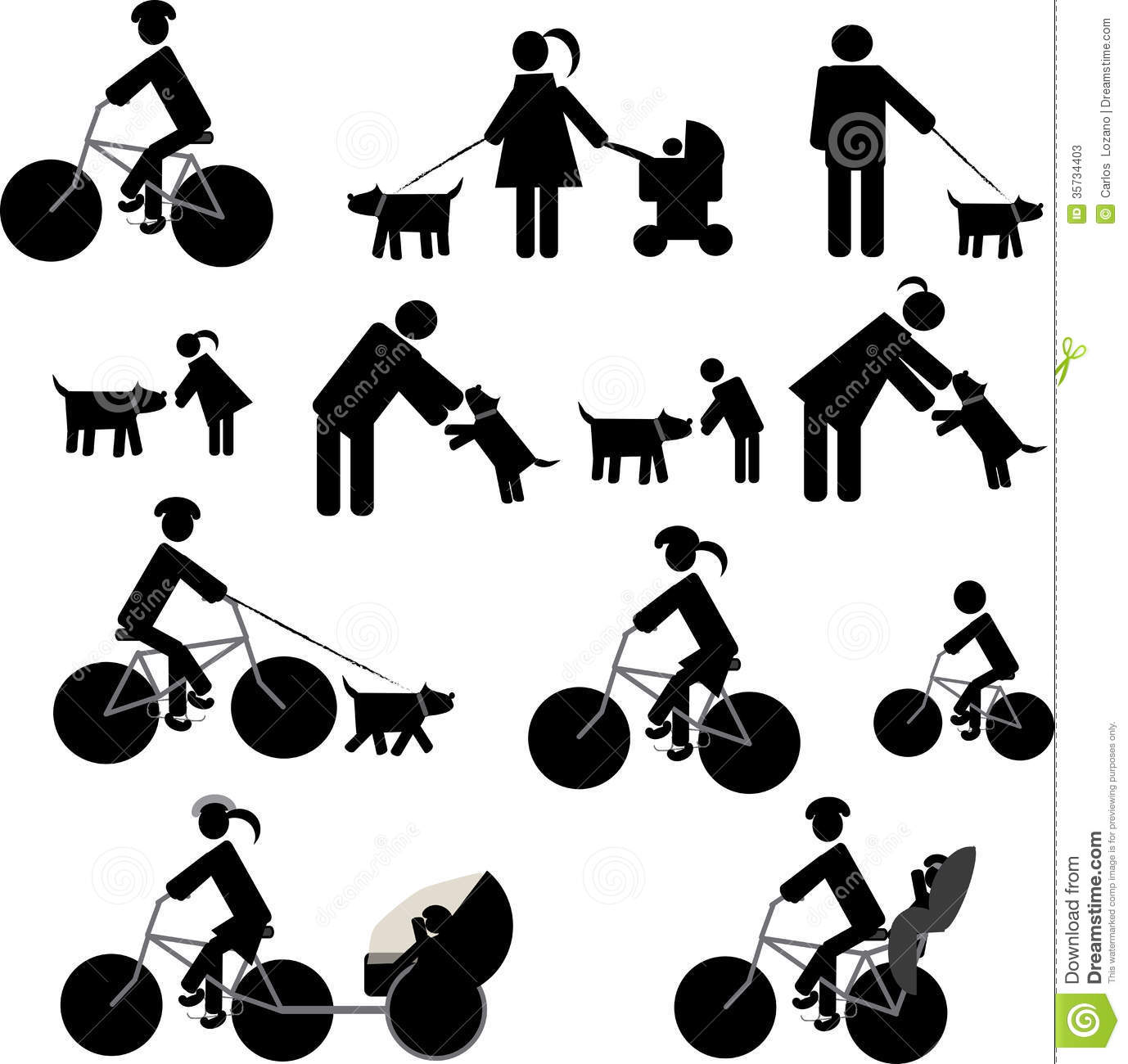 Icons Set Redsport And Dogs Stock Photos Image 35734403