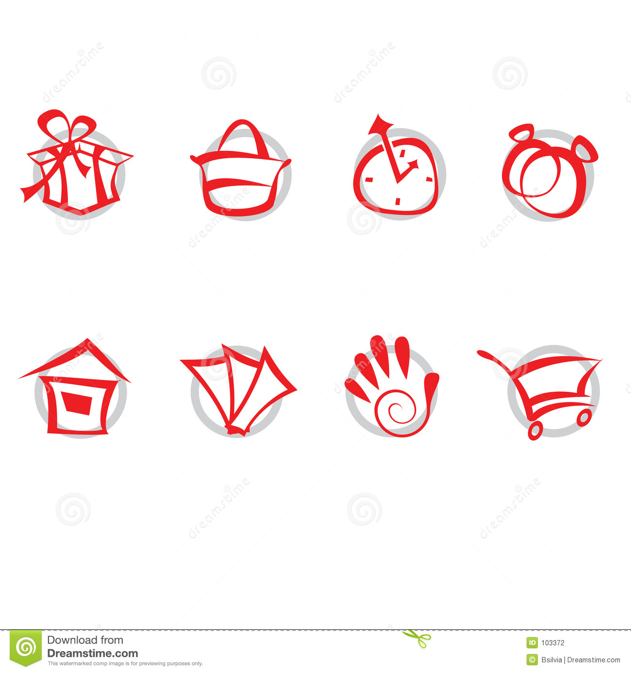 Download Icons set - shopping stock vector. Illustration of graphic - 103372