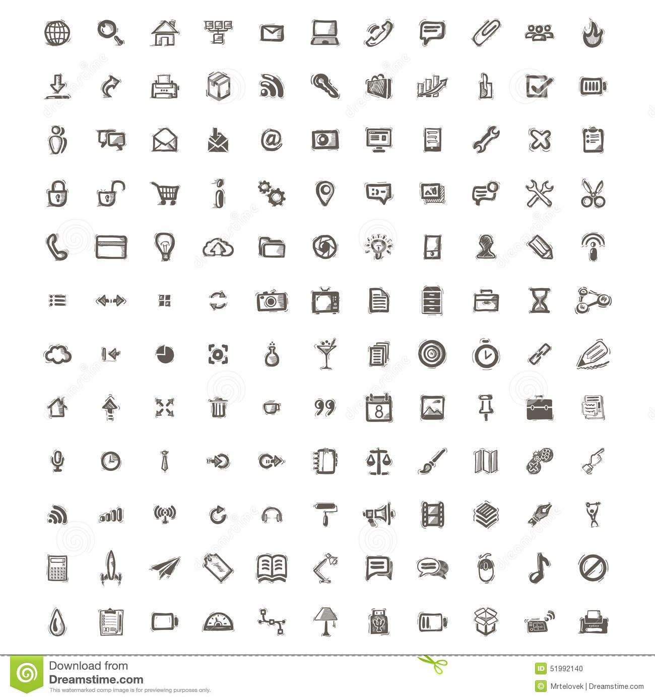 Icons sketches for the site