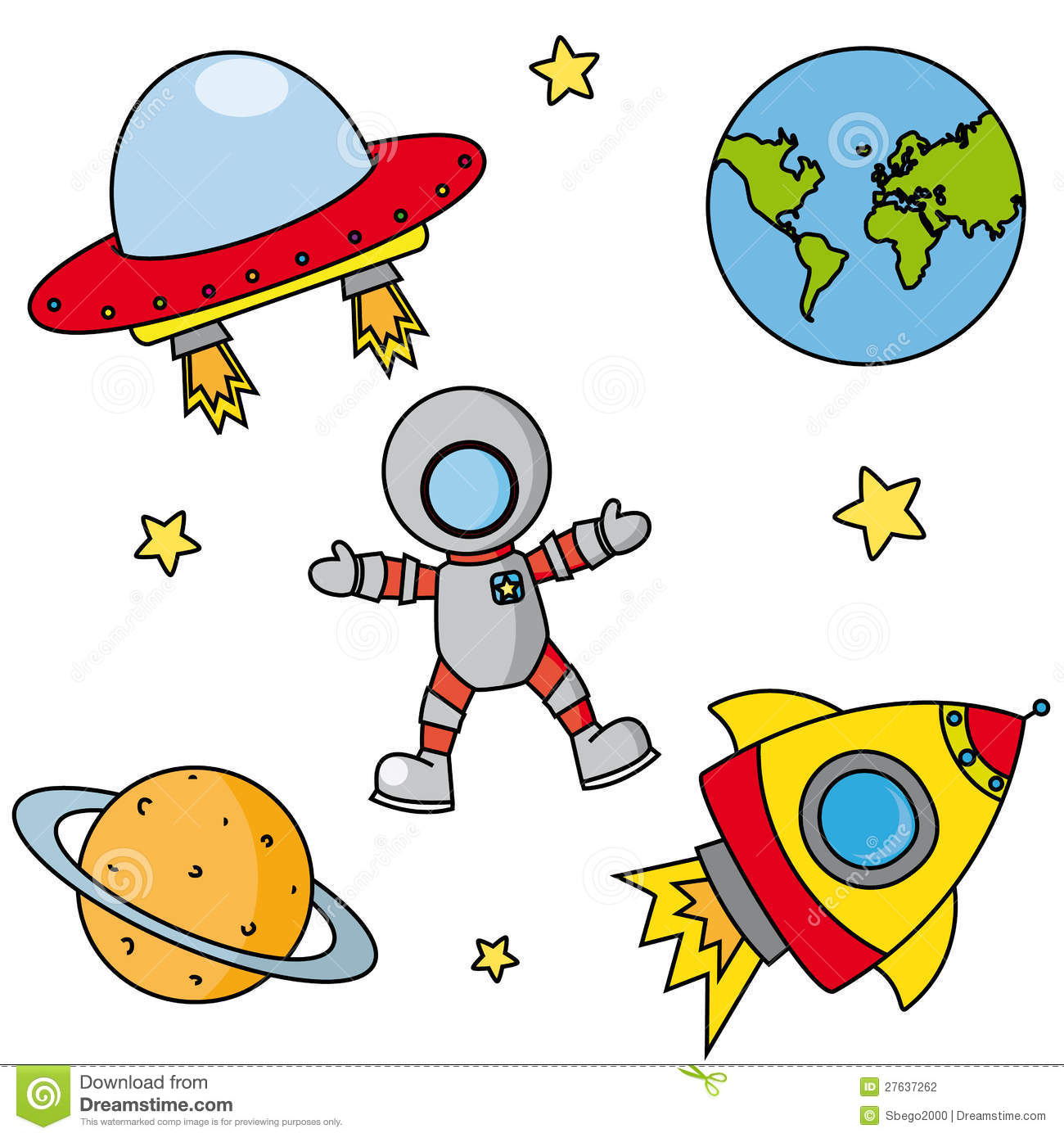 Stock Photography Icons Space Image27637262 on Cartoon Astronaut Clip Art