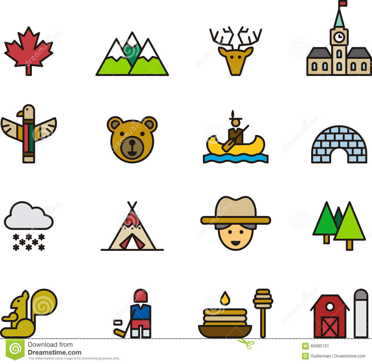 Icons and Symbols of Canada