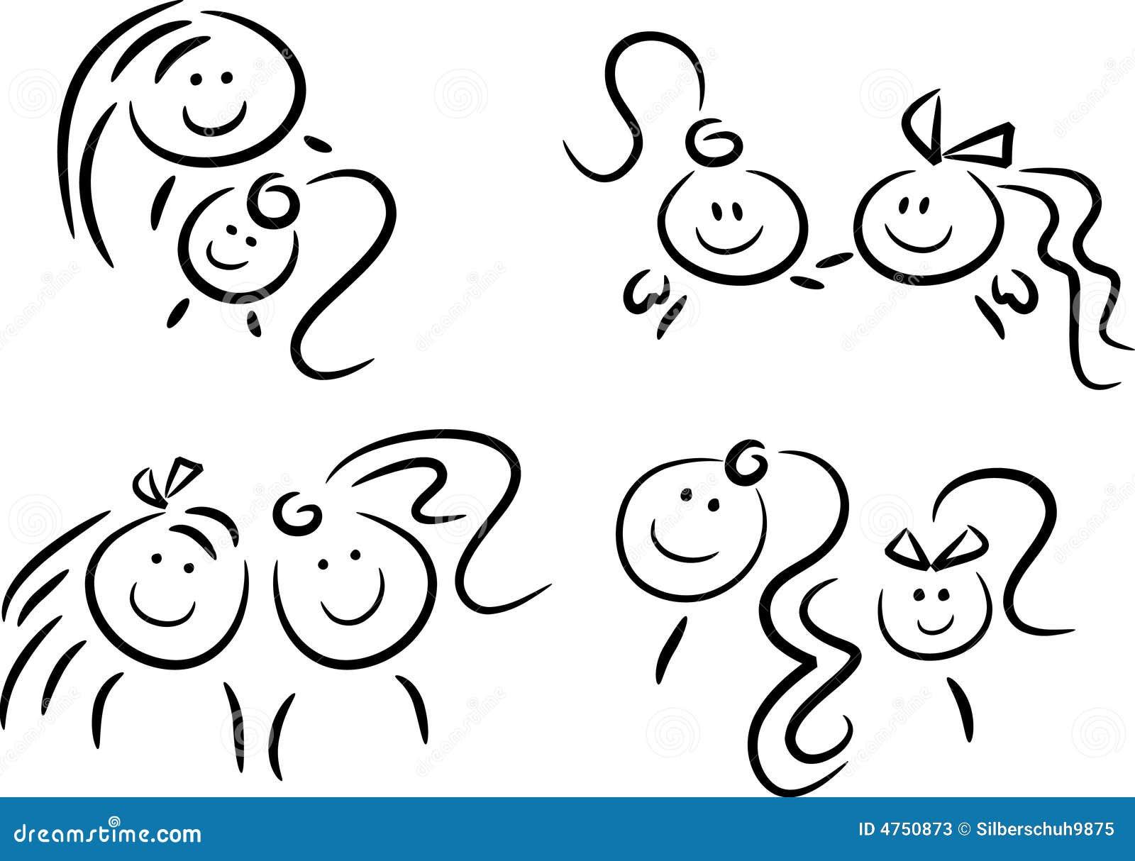 Sister Symbols Icons/symbols: sisters and