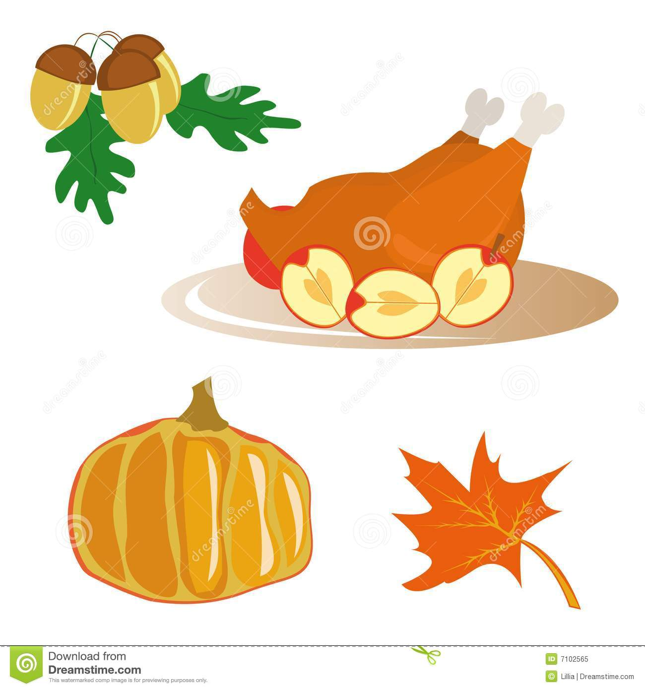 icons for thanksgiving day stock vector illustration of food 7102565