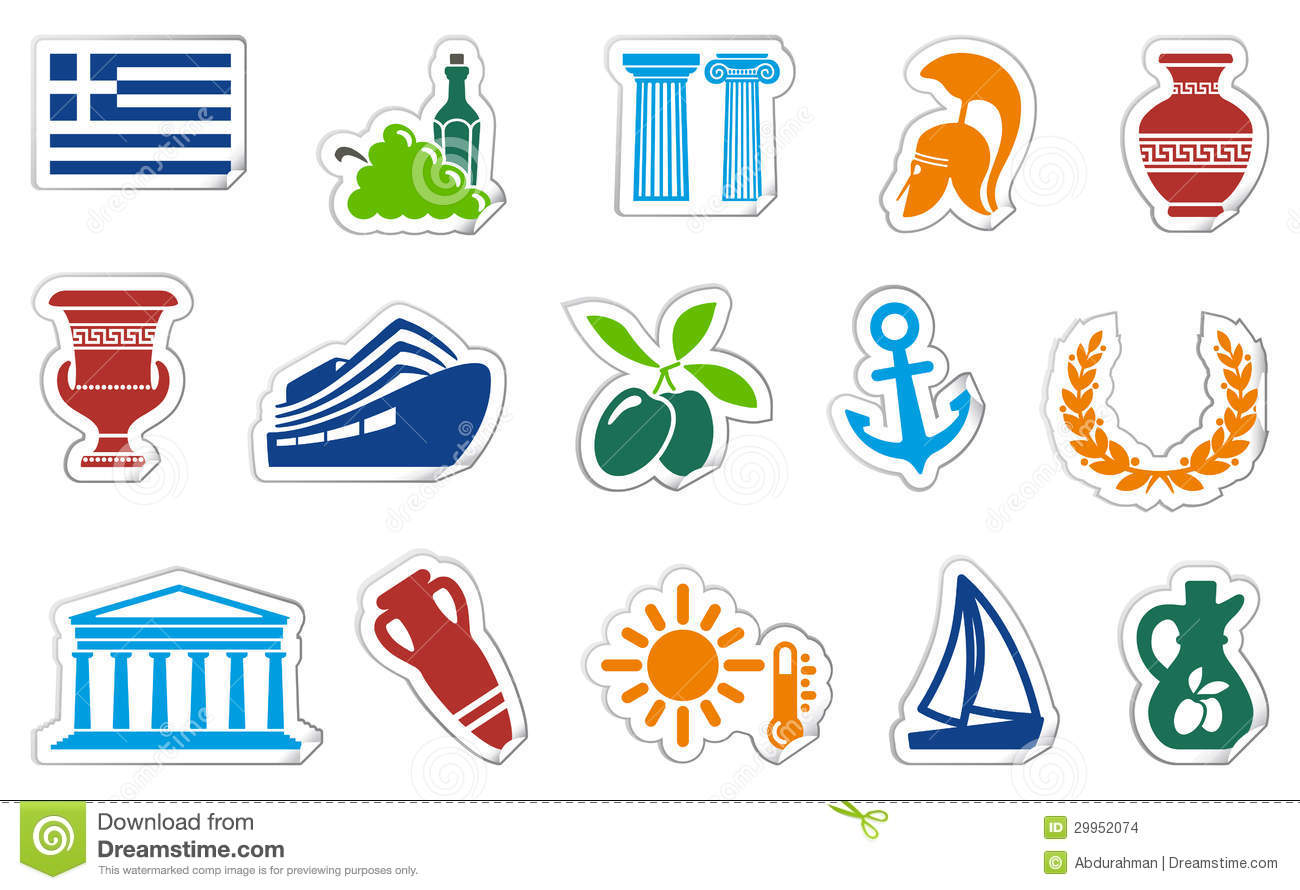 Greece stickers stock vector illustration of object 29952074 royalty free stock photo buycottarizona