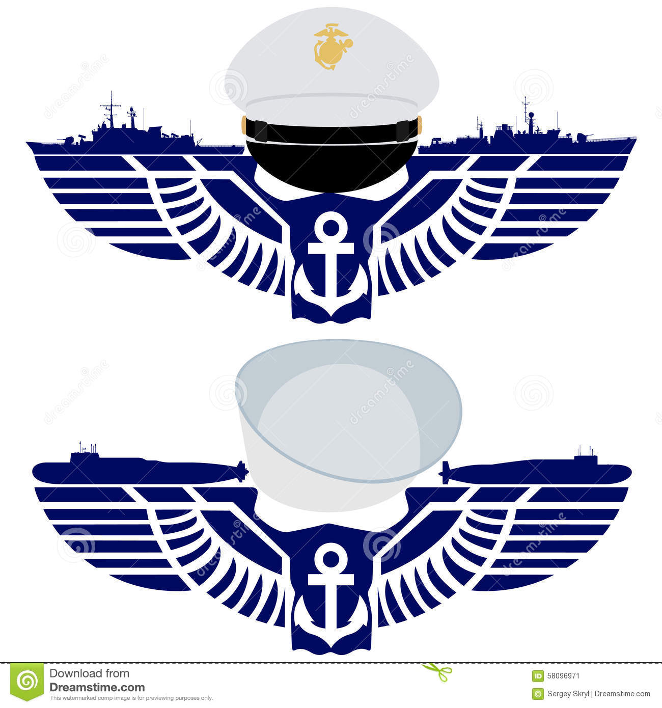 The icons of the us navy stock vector illustration of fleet the icons of the us navy buycottarizona