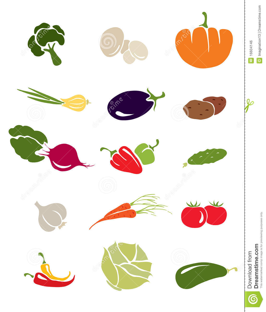 Icons -- vegetables