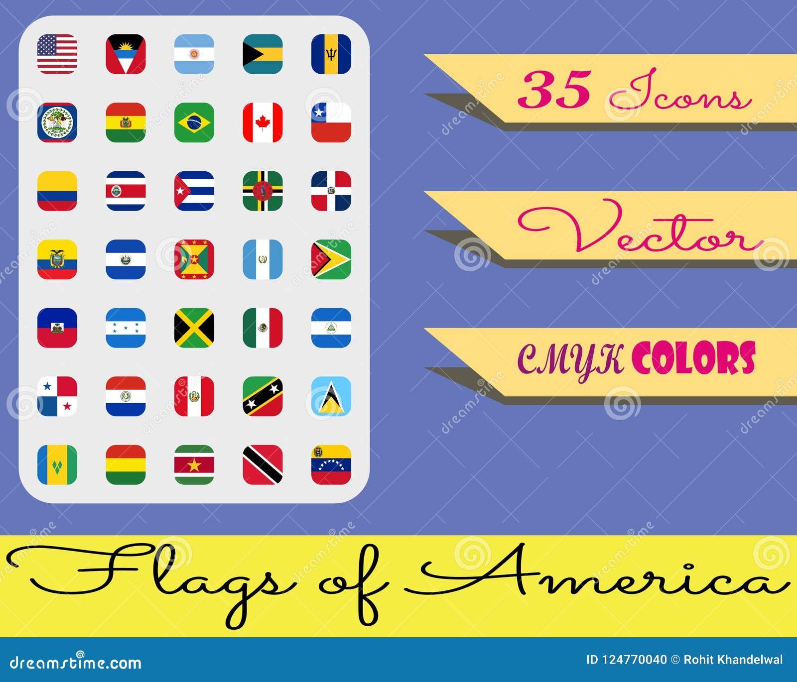 Iconset - drapeaux de l Amérique