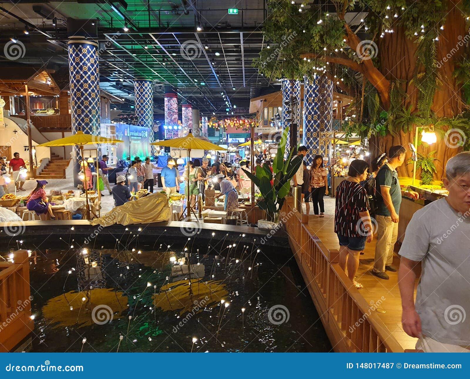 Iconsiam-Mallinnenwassermarkt Bangkok, Thailand