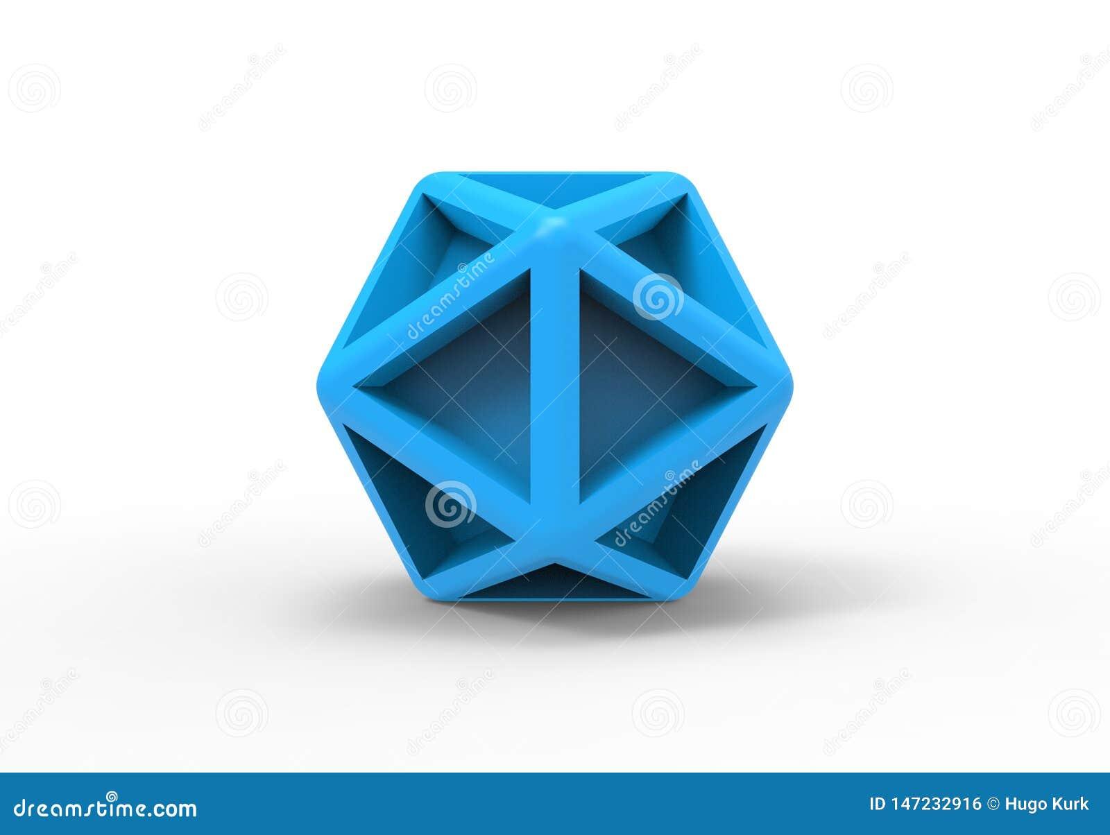 icosahedron geometric 3d object