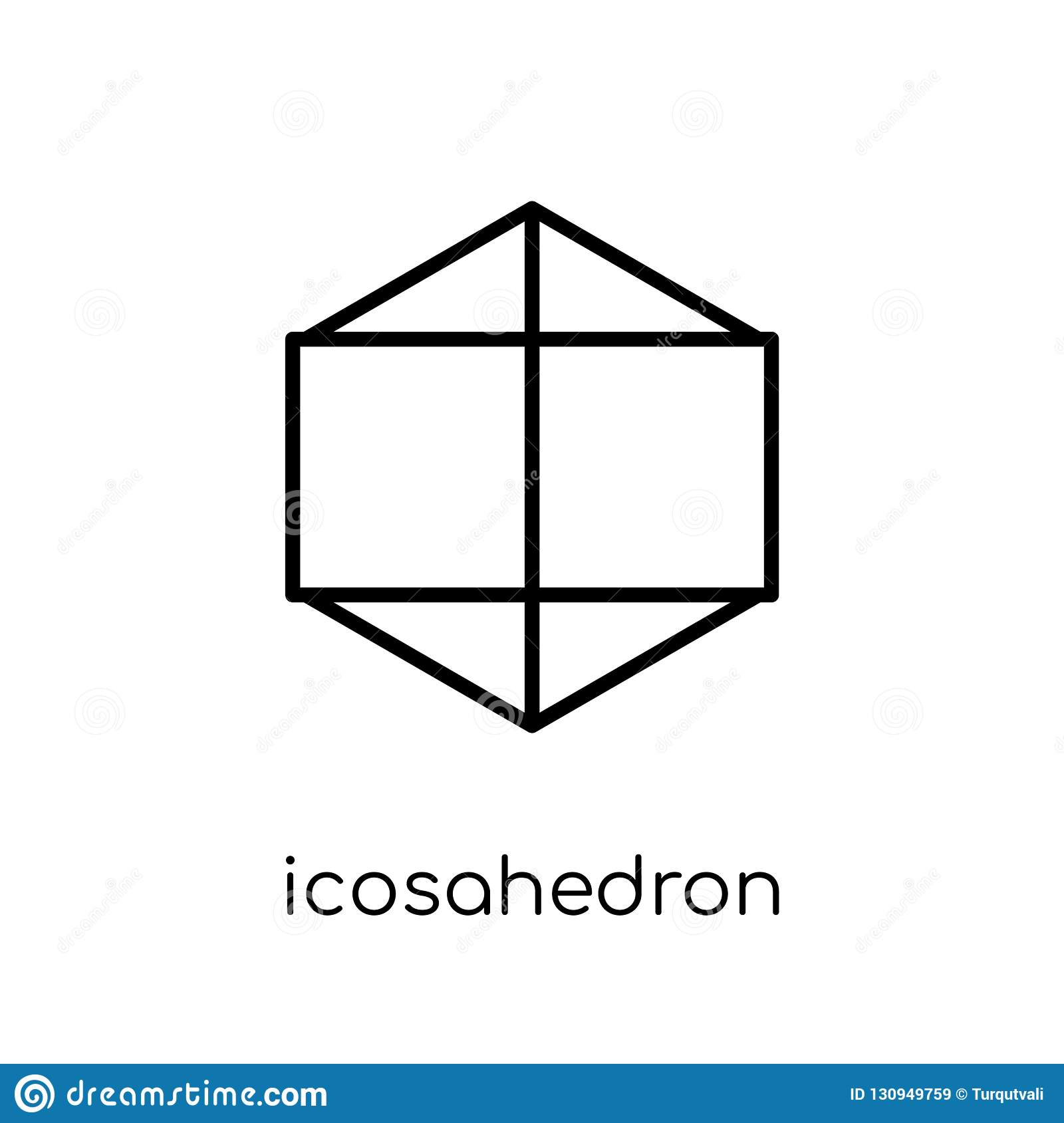 Icosahedron icon from Geometry collection.
