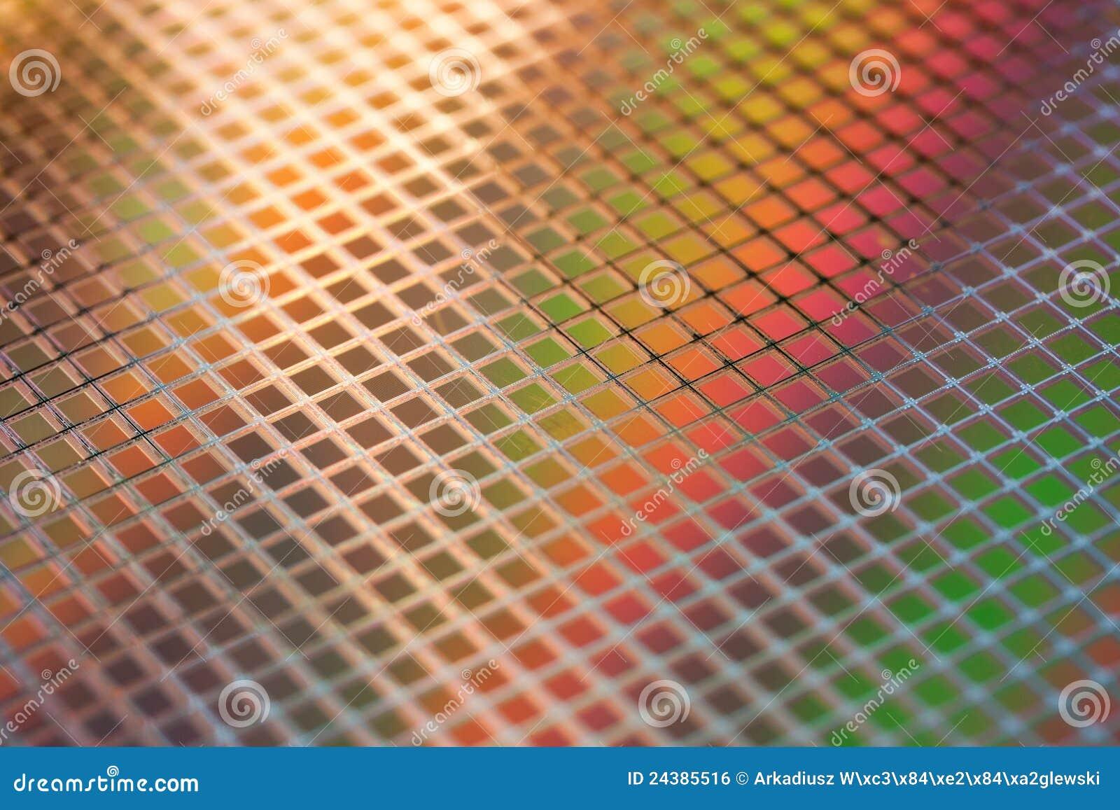 ICs van het silicium wafeltje