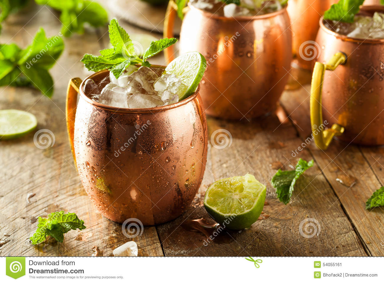 Icy Cold Moscow Mules stock image. Image of mule, drink ...