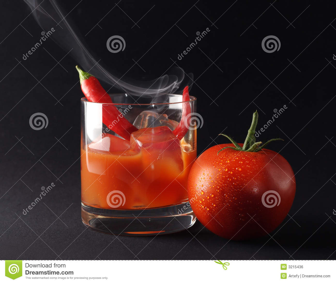 Icy Hot Tomato Drink Royalty Free Stock Image - Image: 3215436