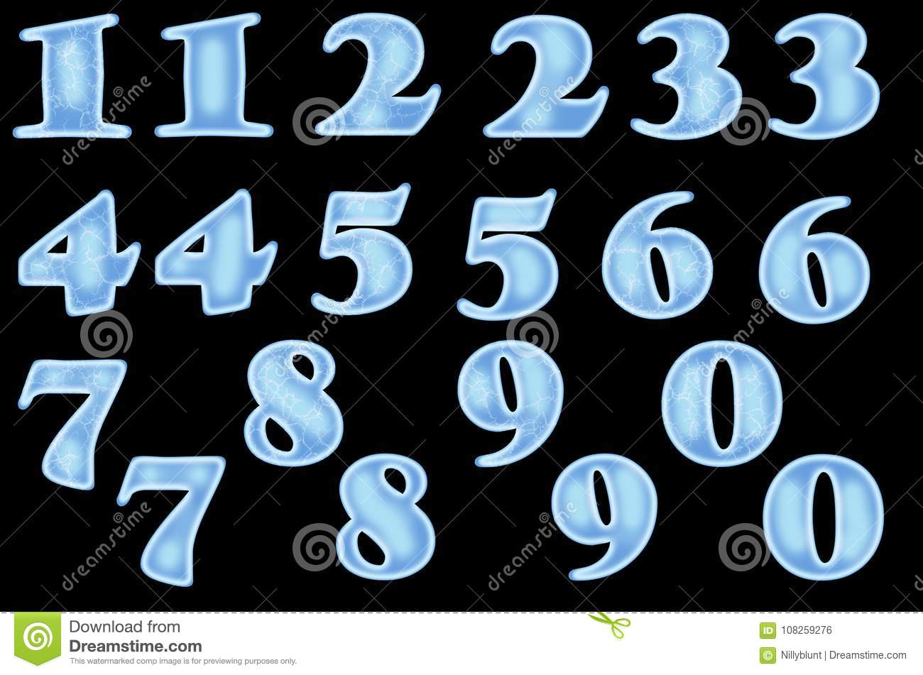 Download Icy Numbers From 1 To 10 Stock Photo Illustration Of Isolated