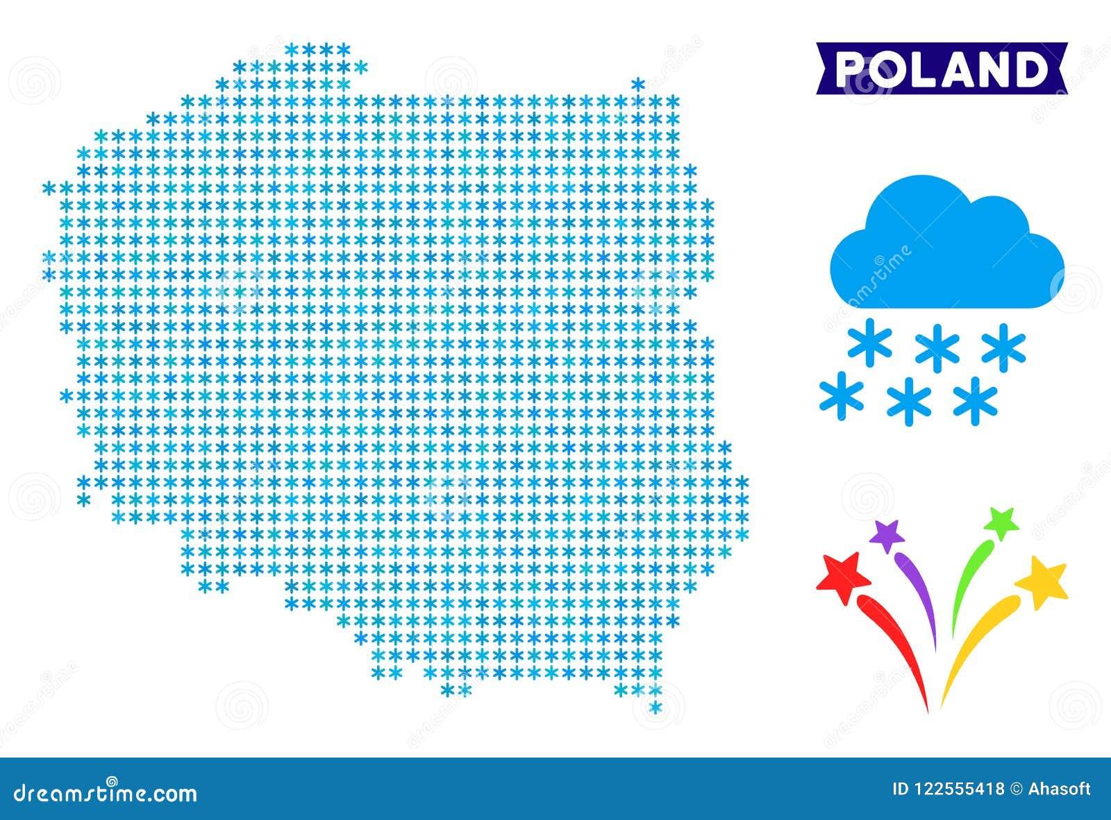 Frozen Poland Map