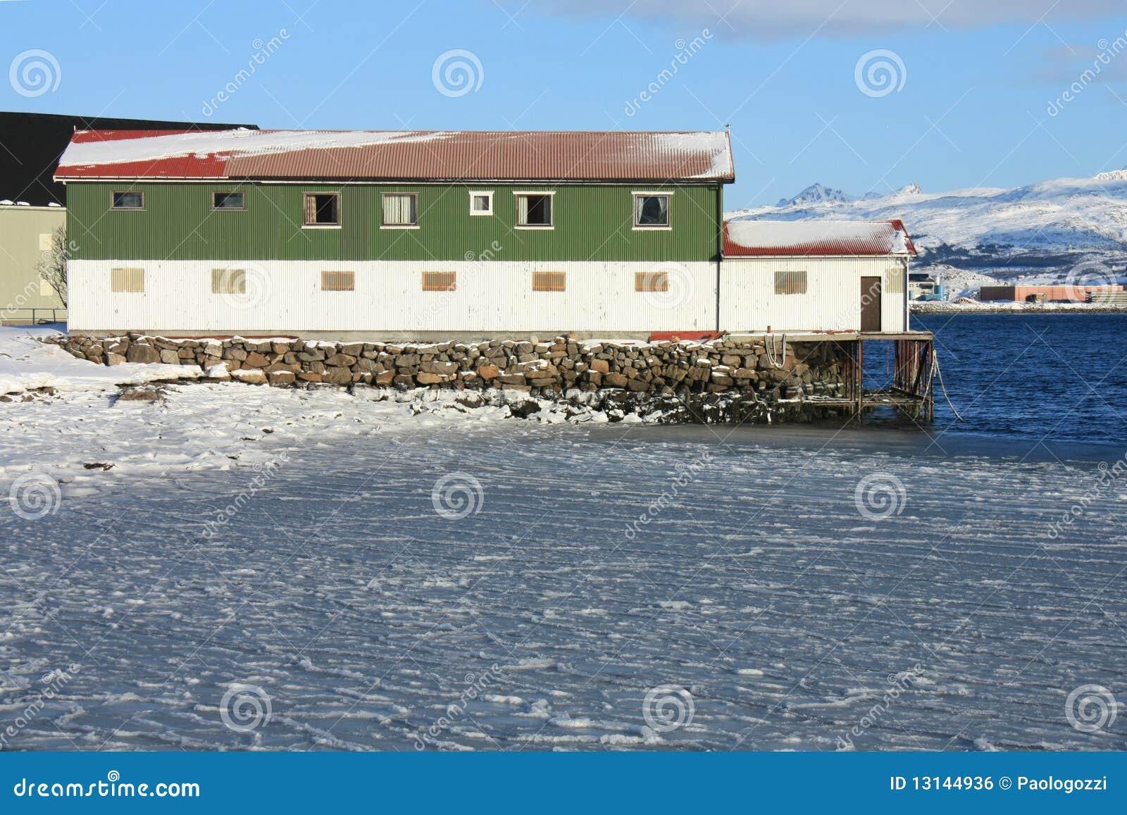 Icy sea & factory